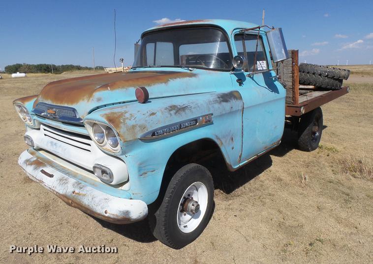1959 Chevrolet Apache 38 Flat Dump Bed Pickup Truck Item D