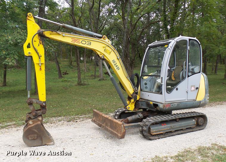 2008 Wacker Neuson 3503RD compact excavator | Item DP9720 |