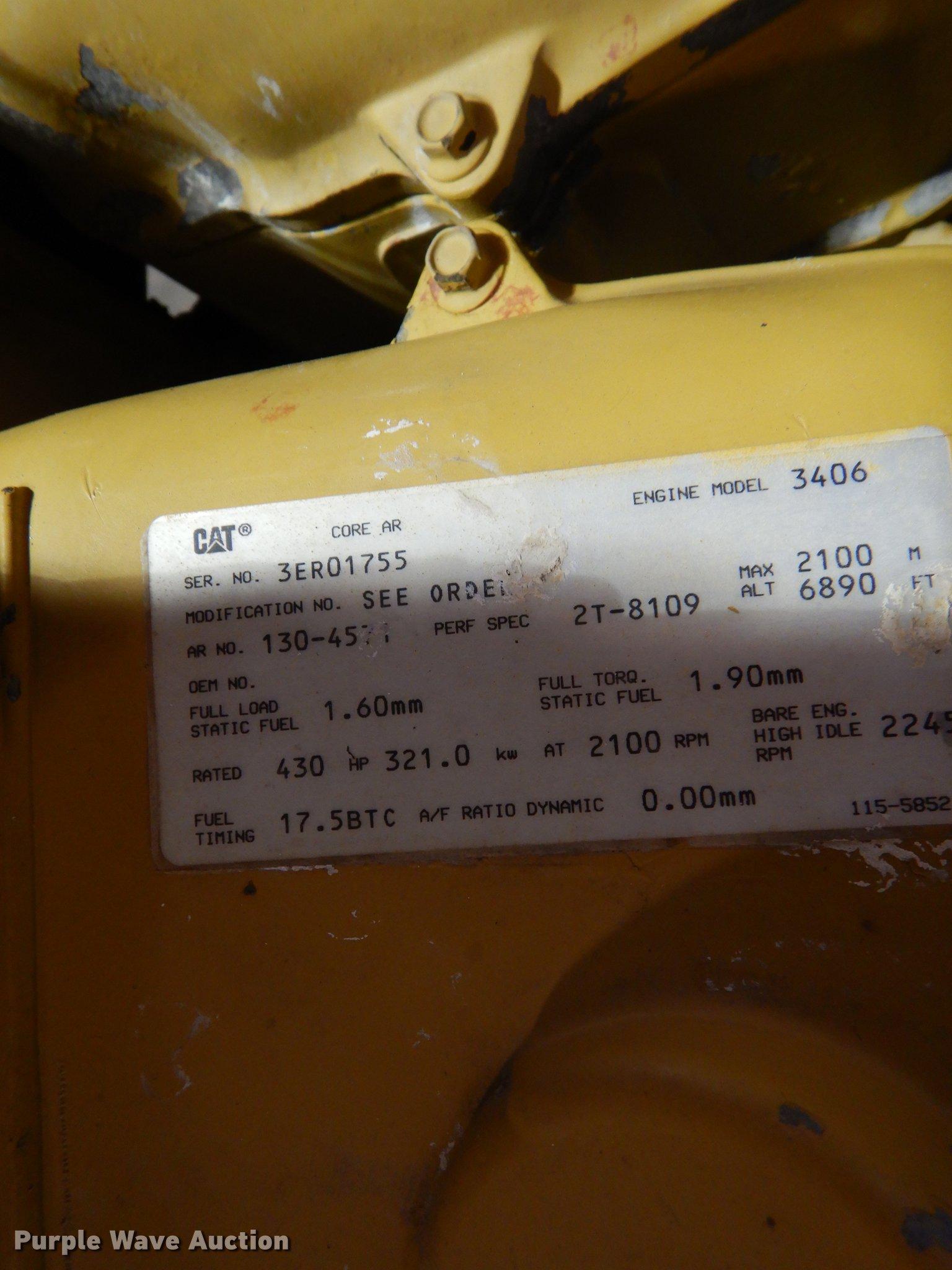 Caterpillar 3406 six cylinder turbo diesel engine | Item DS9