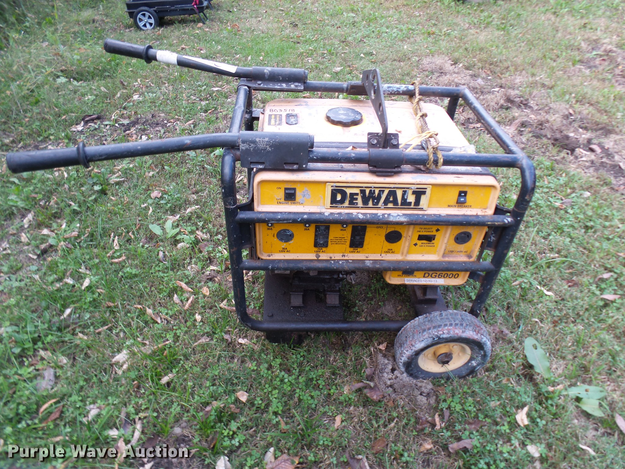 dewalt dg6000 generator item dp9651 sold november 8 veh rh purplewave com De Walt DG6000 Generator Manual dewalt generator dg6000 manual
