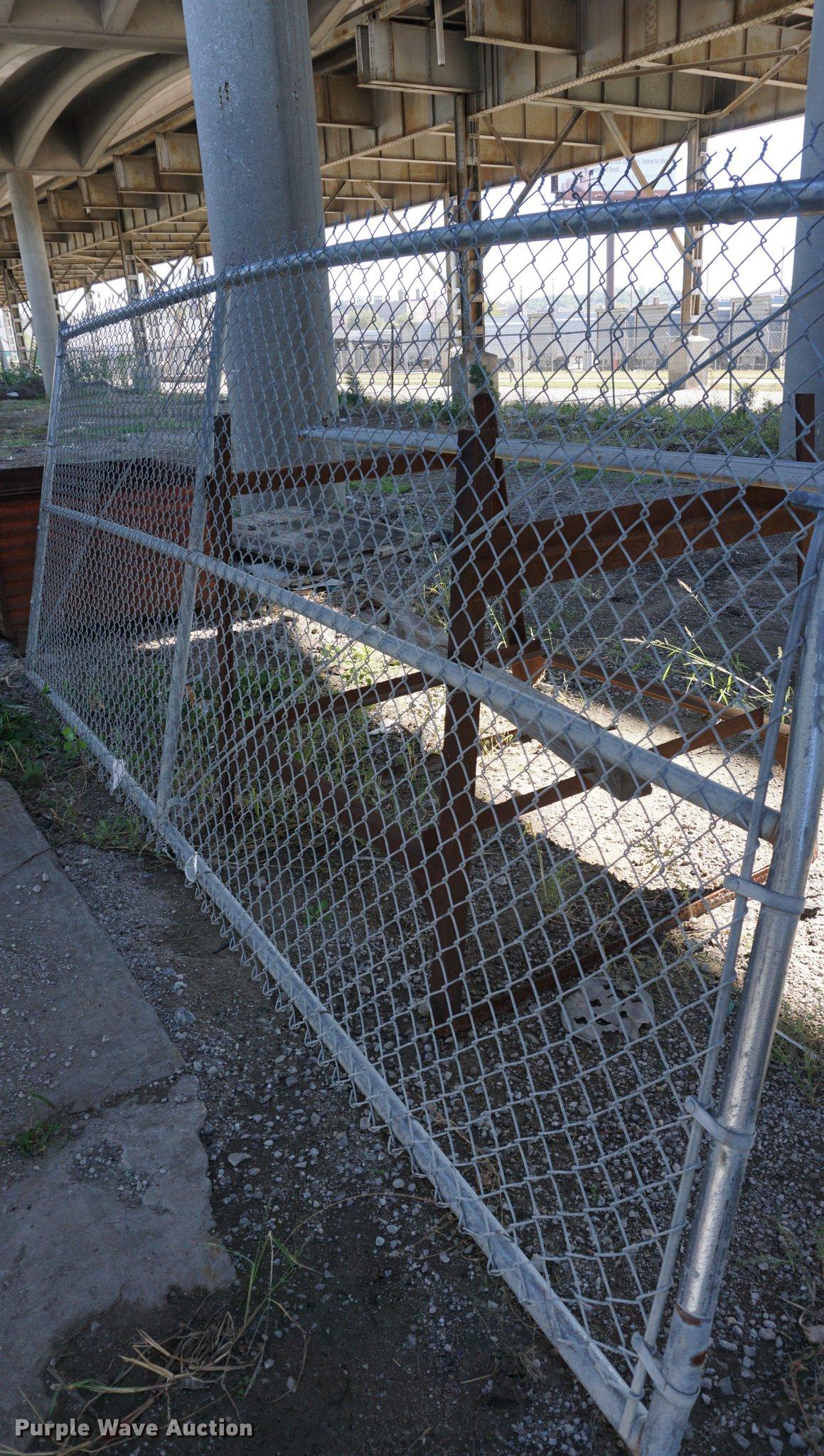 3 chain link fence gates item ds9366 sold november 8