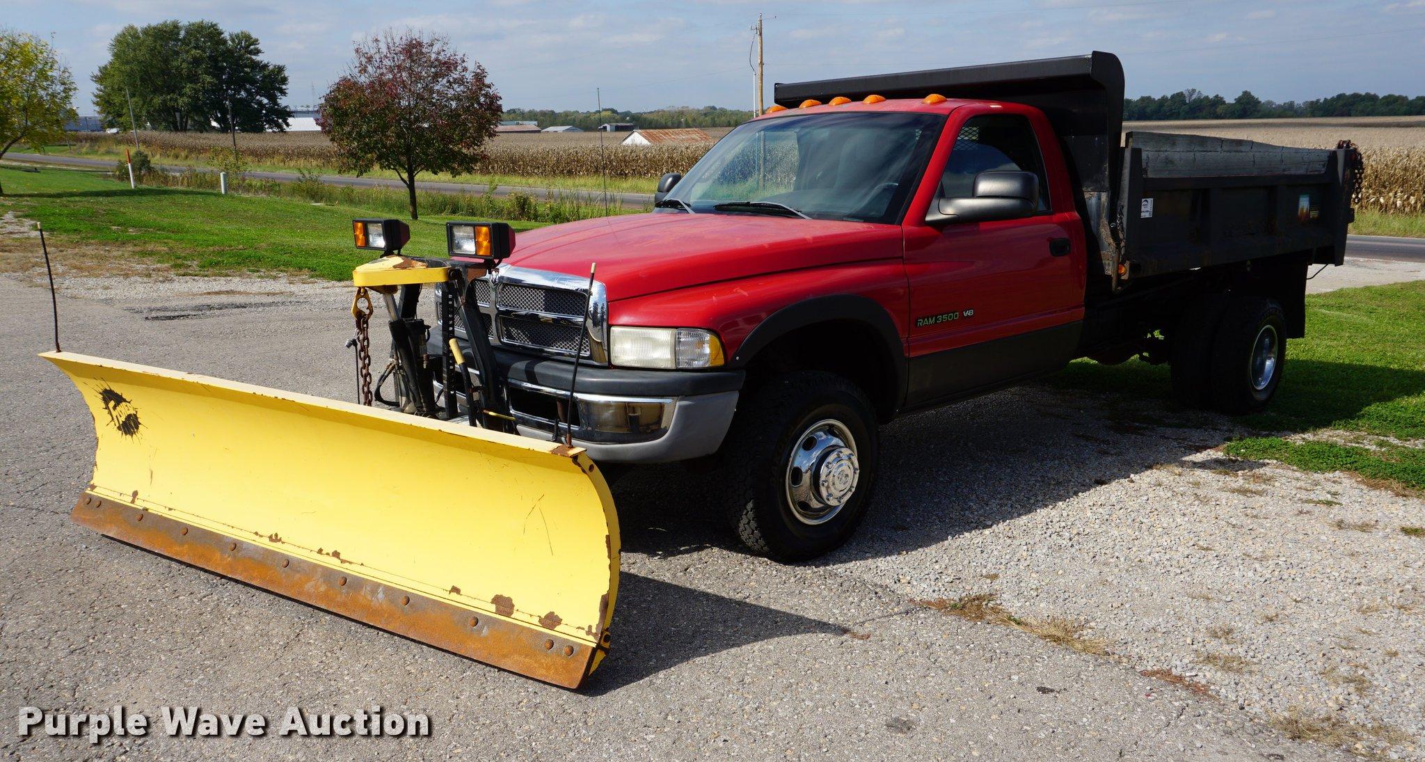 2001 Dodge Ram 3500 Dump Bed Pickup Truck Item Da1259 So Extended Cab Image For
