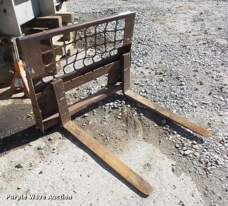 Skid steer pallet forks   Item DD9512   SOLD! November 29 Ve