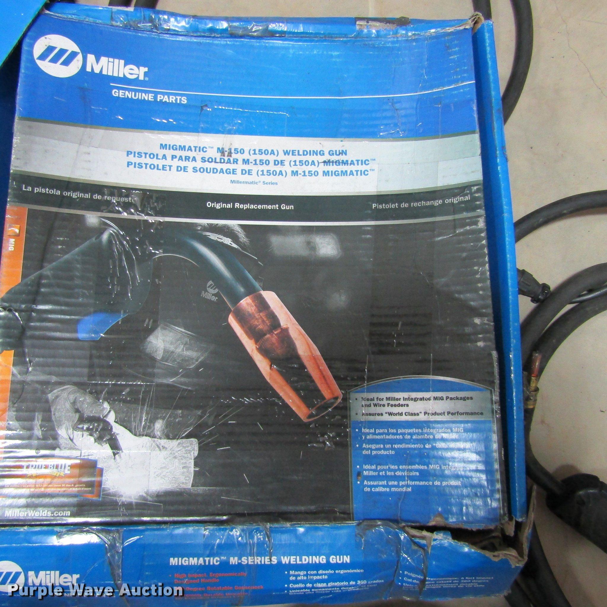 2) Miller Migmatic M-150 welding guns   Item AZ9379   SOLD!...