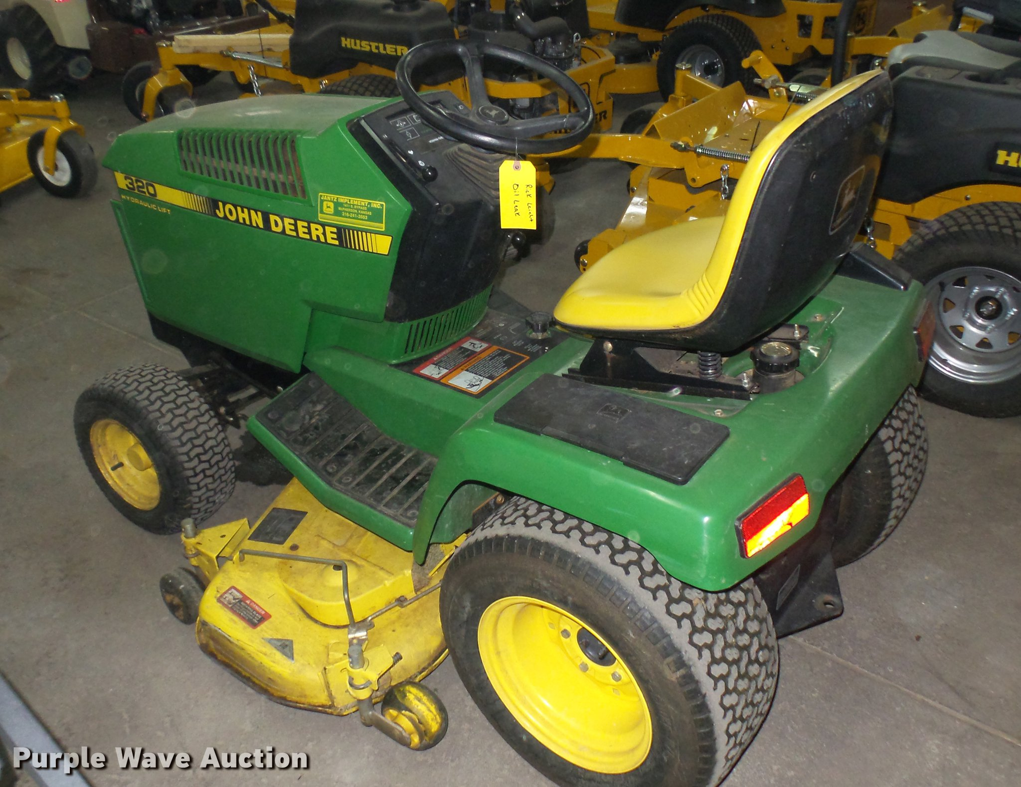John Deere 320 lawn mower | Item ED9005 | SOLD! November 29