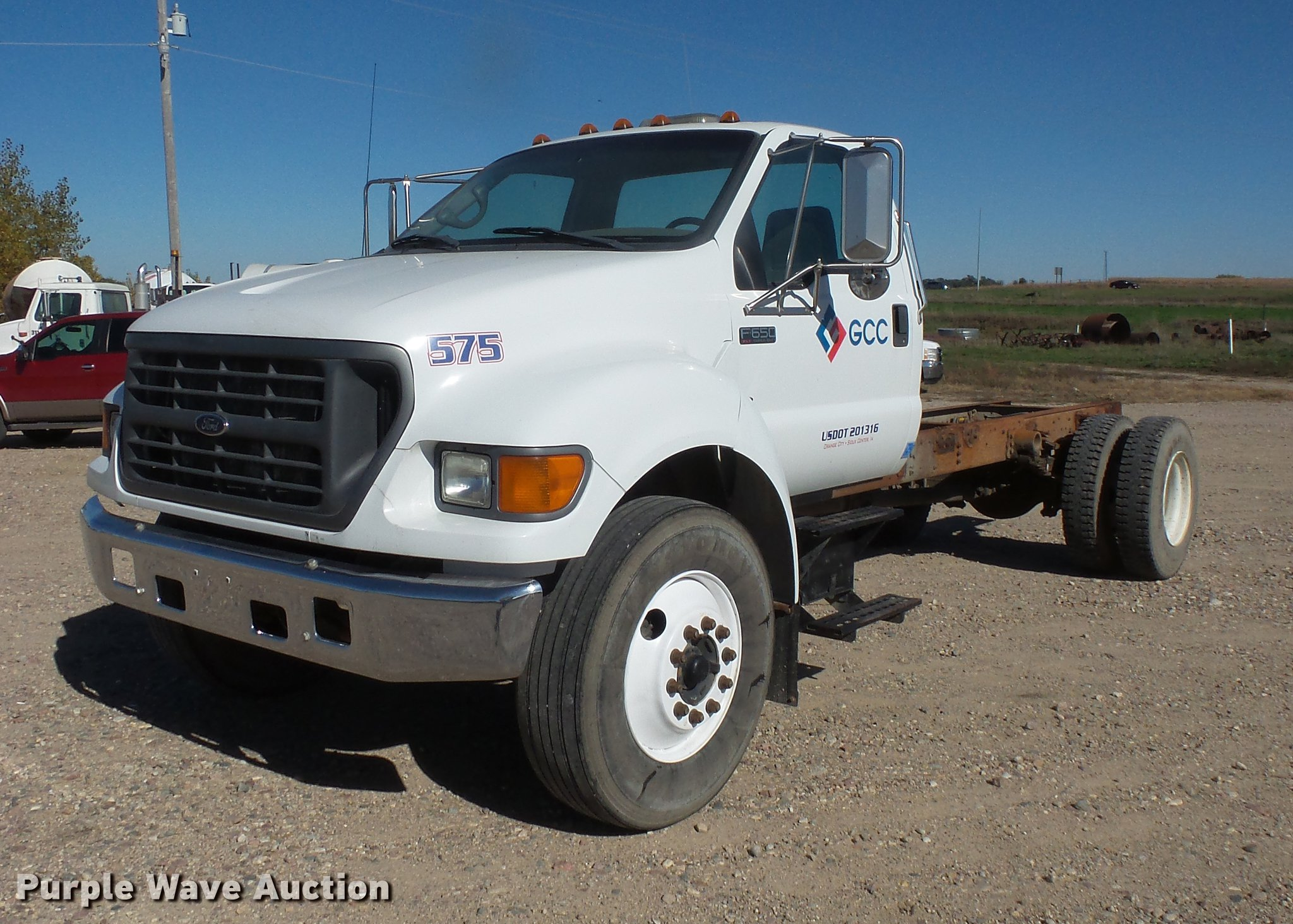 2000 Ford F650 Truck Cab And Chassis Item Db8066 Sold N