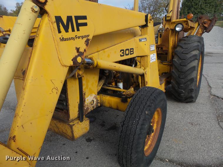 1979 Massey-Ferguson 30B backhoe   Item DB6340   12-5-2017
