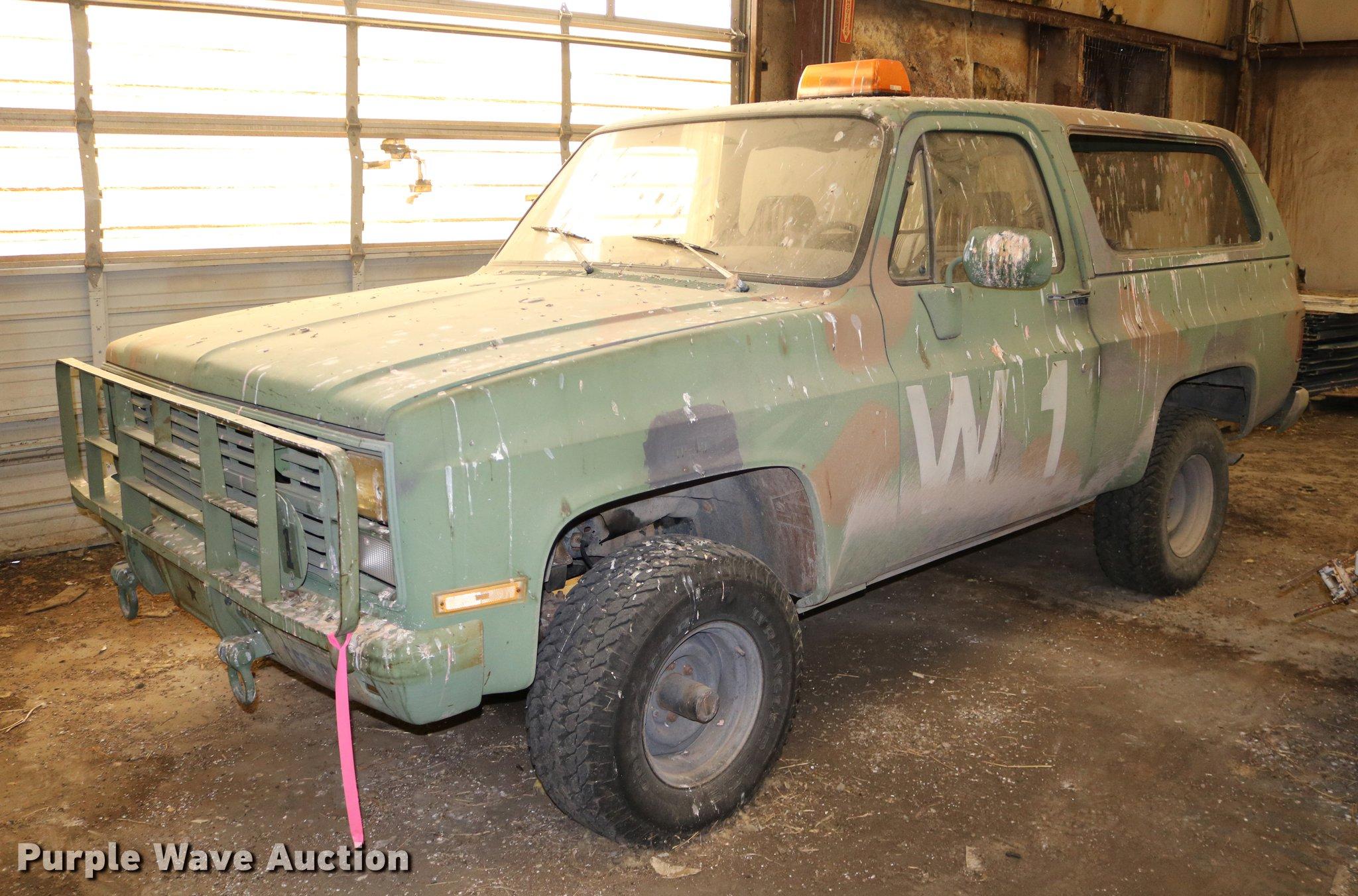 7c23387042 DD0004 image for item DD0004 1984 Chevrolet D10 Military Blazer ...