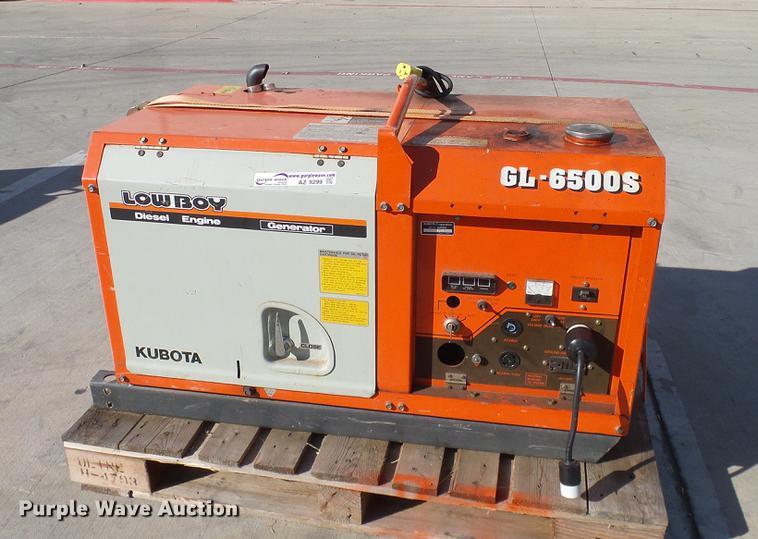 kubota gl6500s generator item az9299 sold december 27 v rh purplewave com Kubota GL6500S Generator Specs Kubota GL6500S Generator Specs