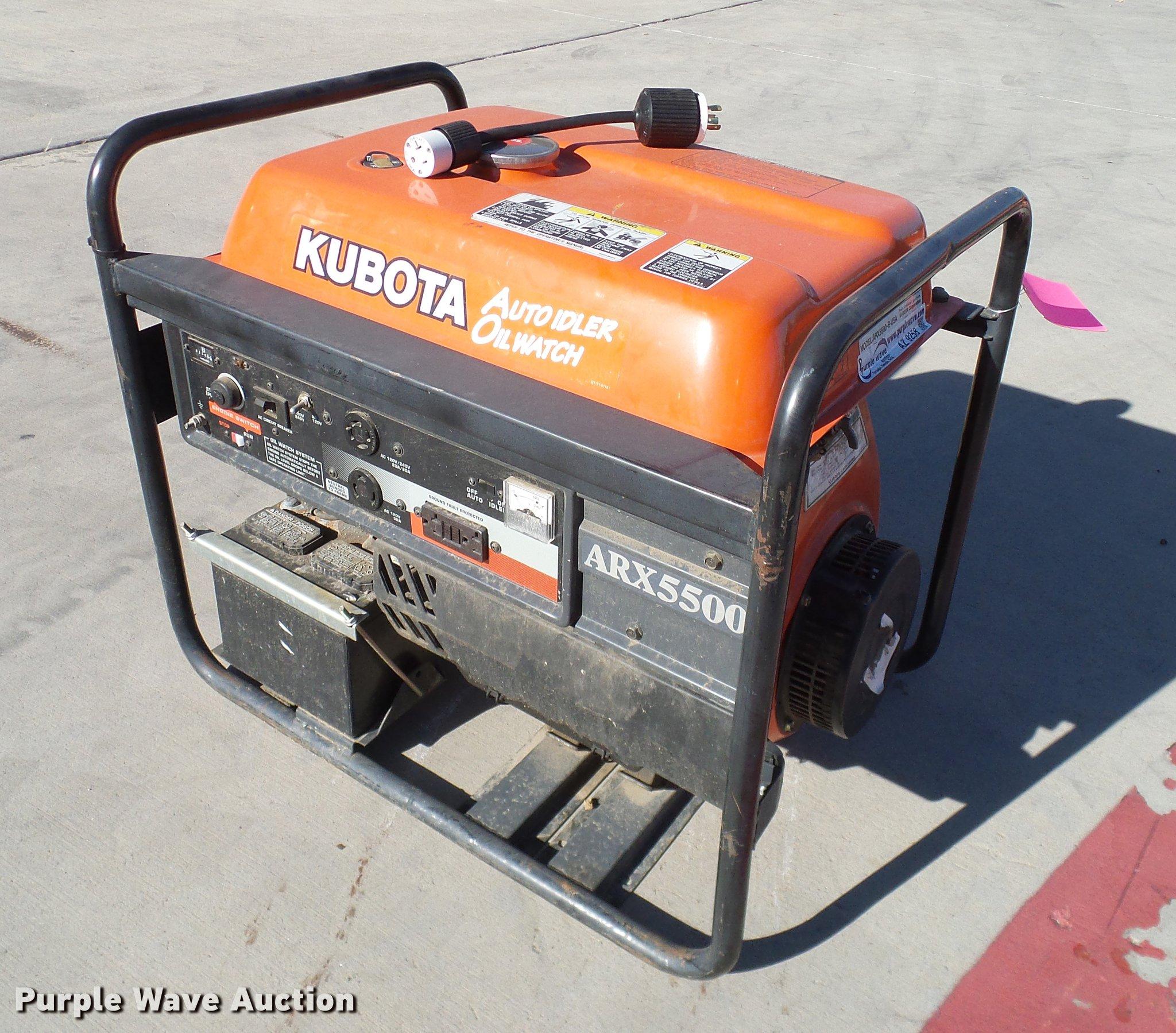 Kubota ARX5500 generator Item AZ9258