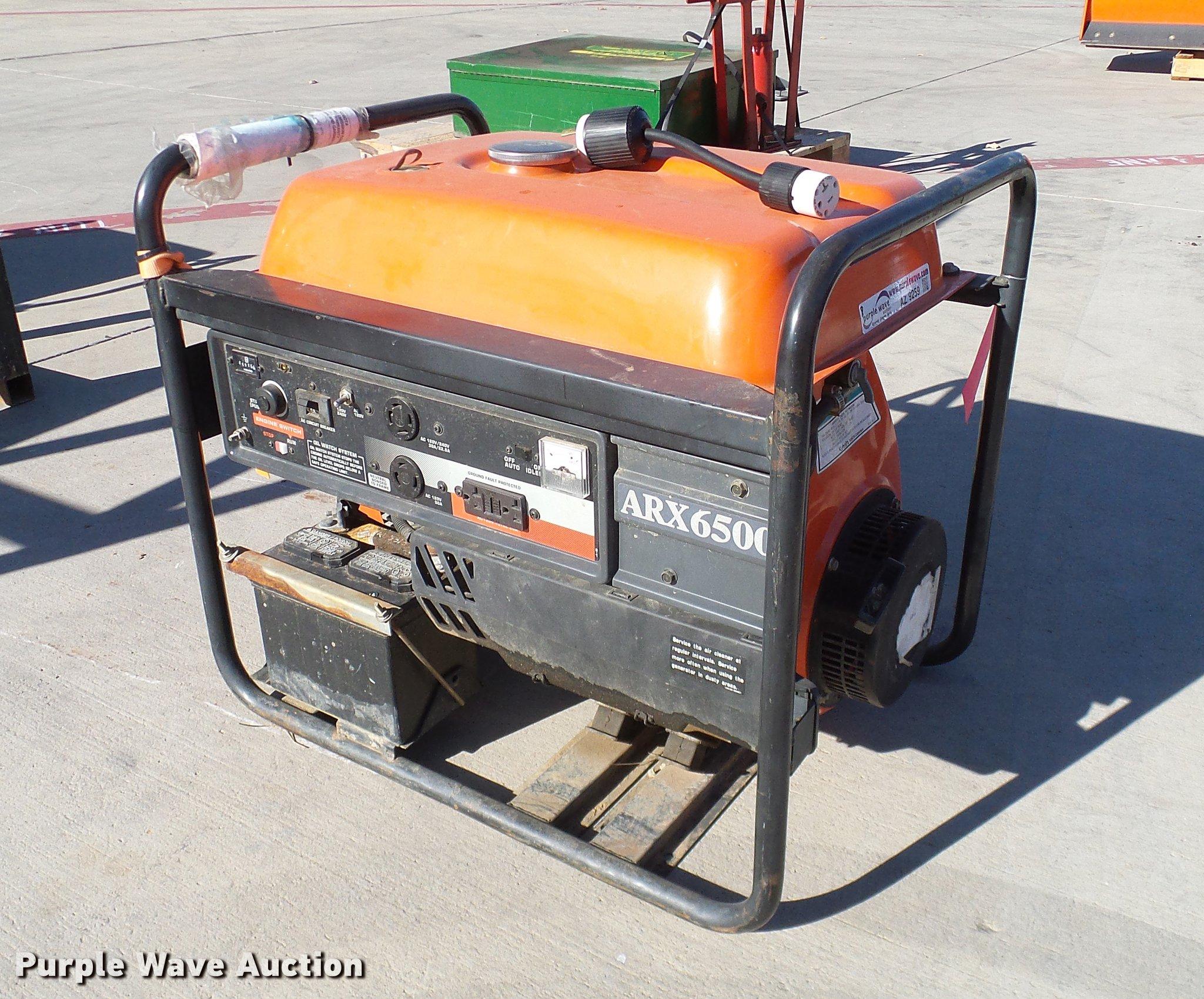 AZ9259 image for item AZ9259 Kubota ARX6500 generator