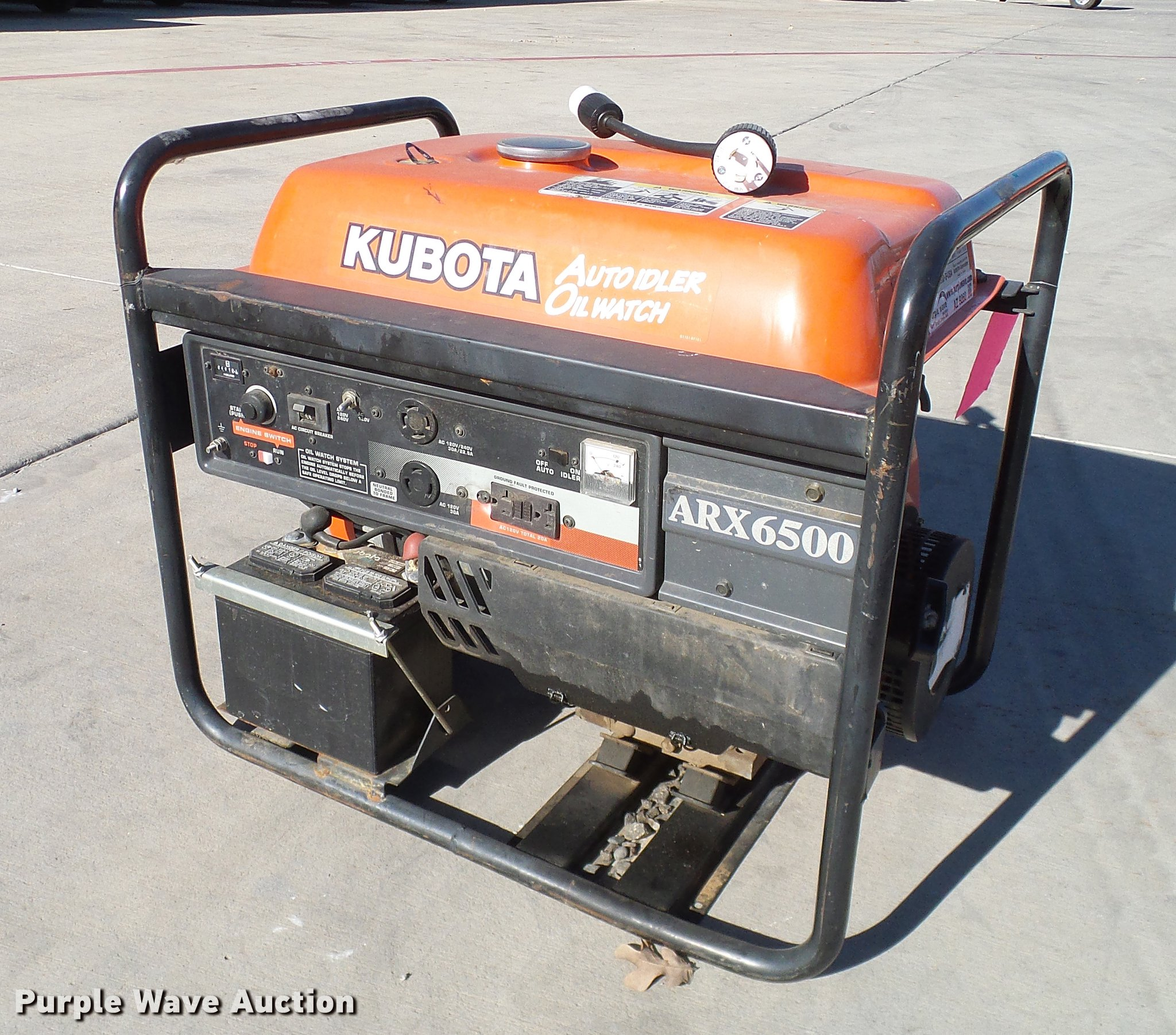 Kubota ARX6500 generator Item AZ9260