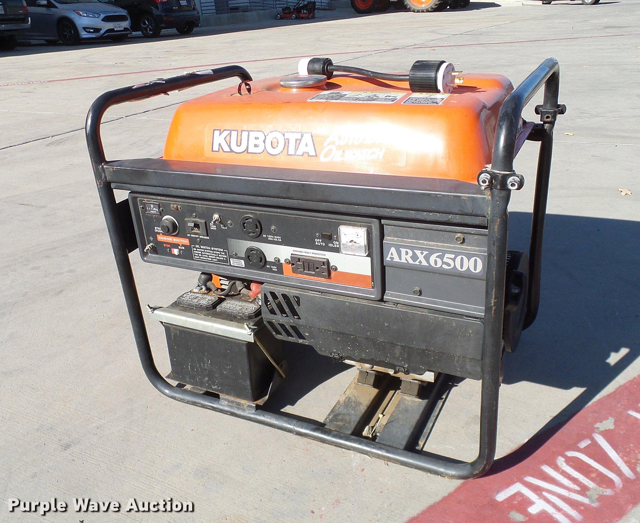 Kubota ARX6500 generator | Item AZ9262 | SOLD! December 27 V