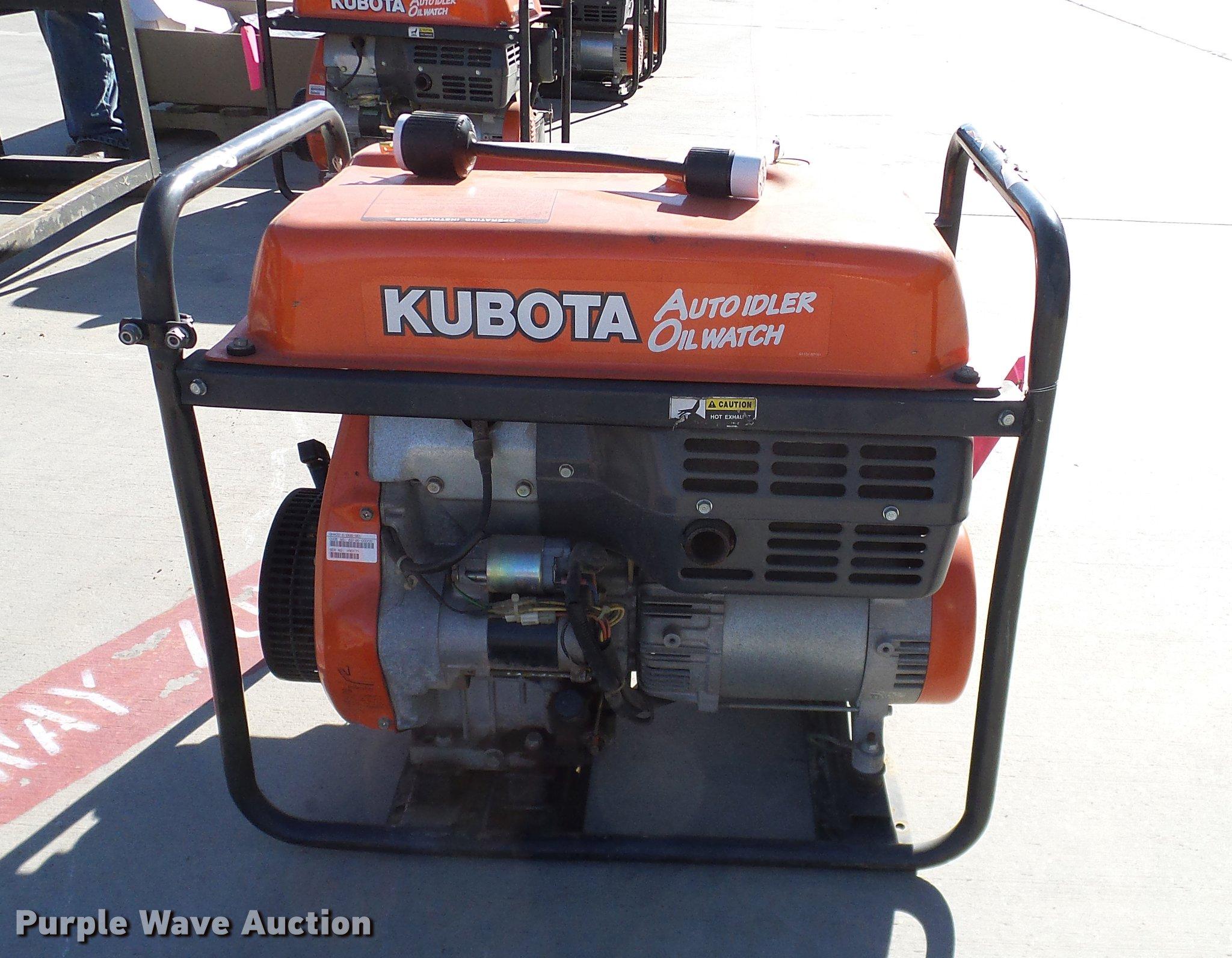 ... Kubota ARX6500 generator Full size in new window ...