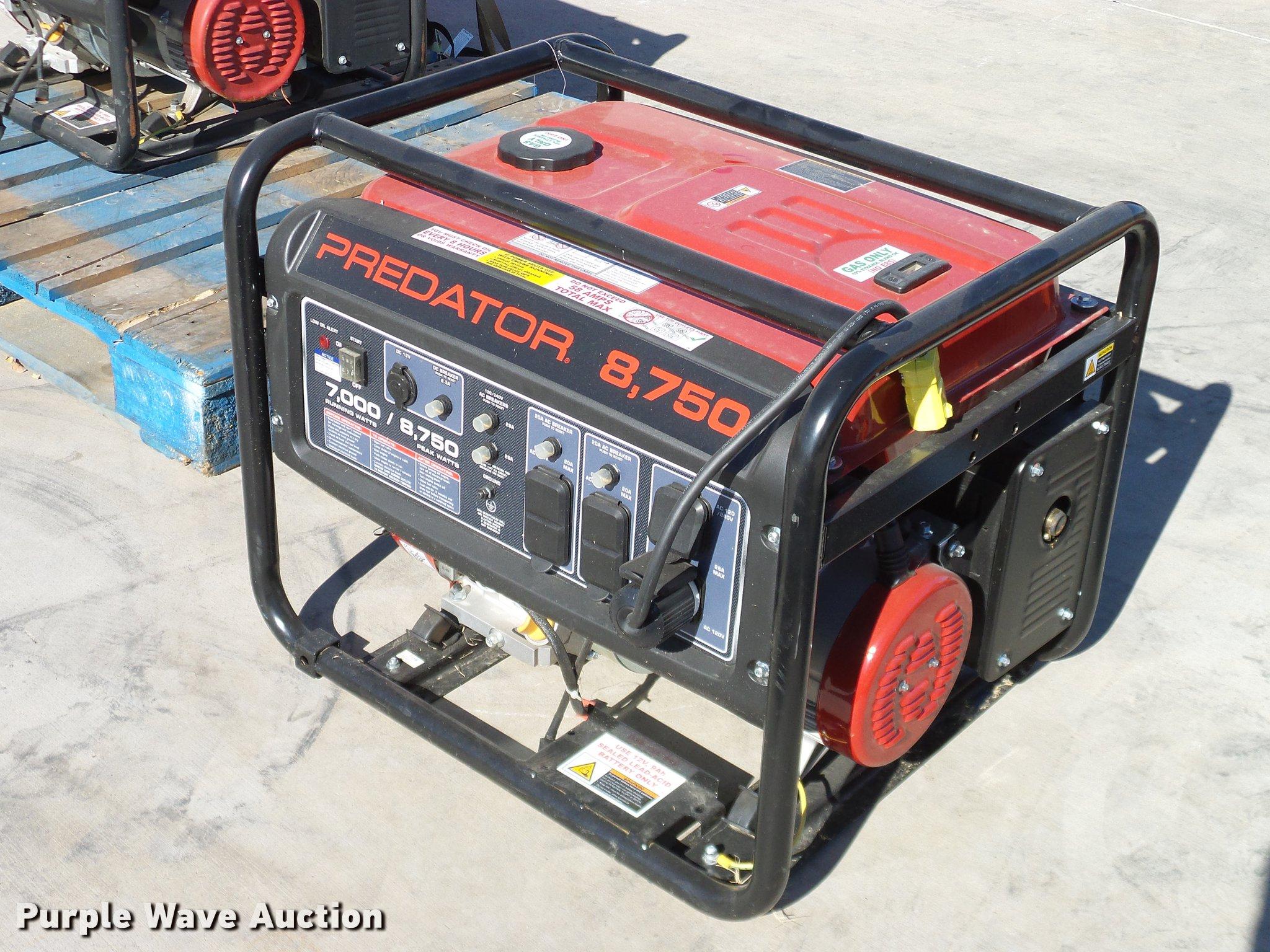 Predator 8750 generator Item AZ9274