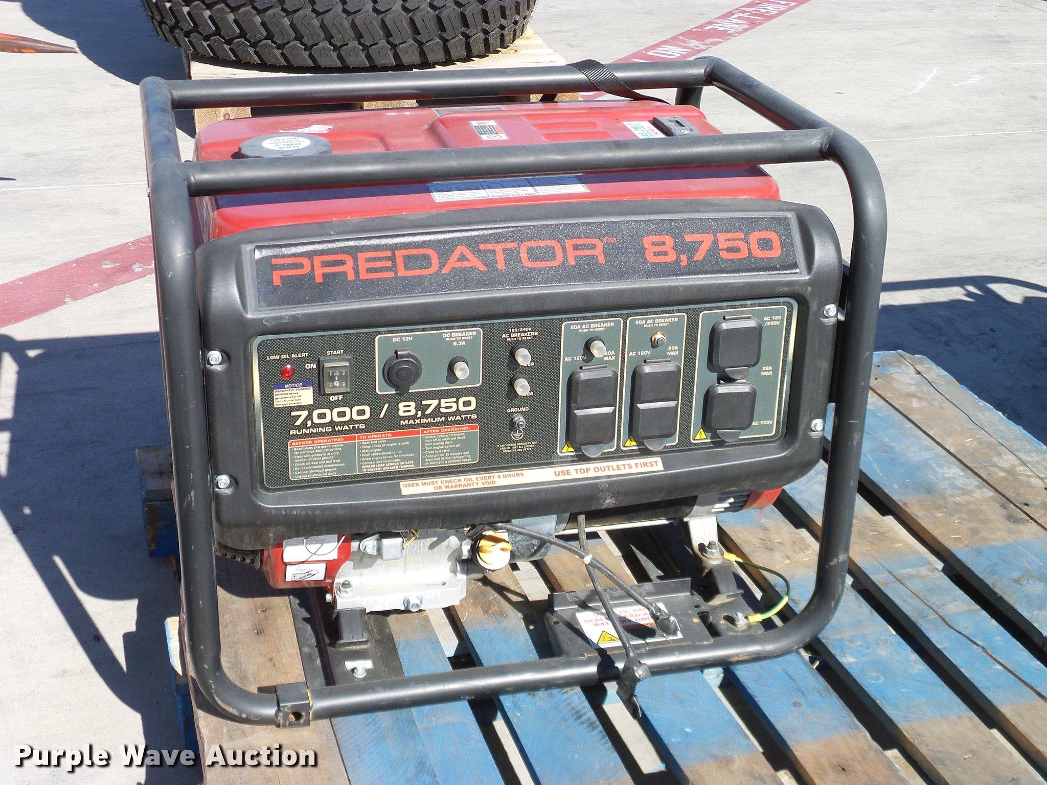 Predator 8750 generator | Item AZ9275 | SOLD! December 27 Ve