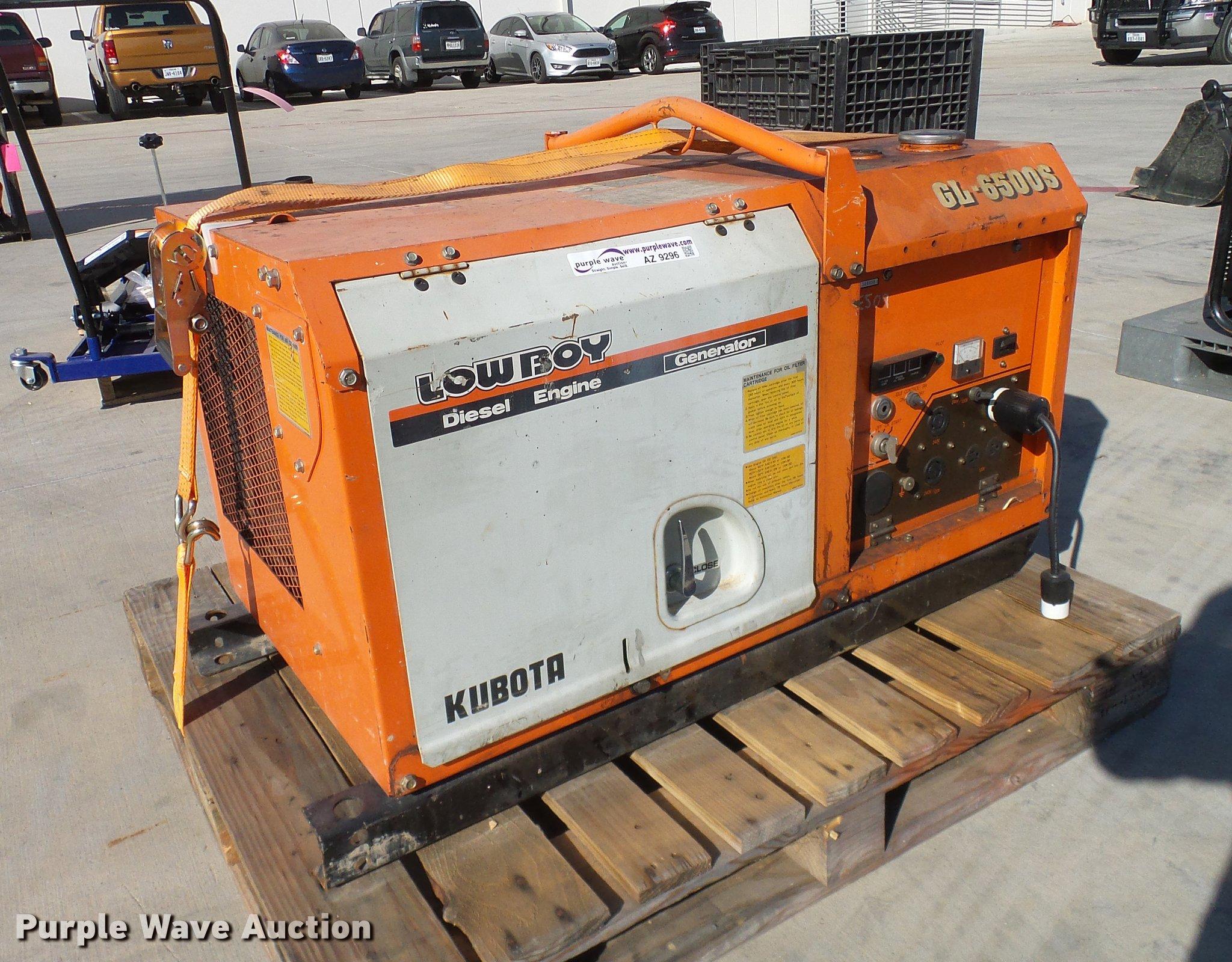 Kubota GL6500S generator Item AZ9296
