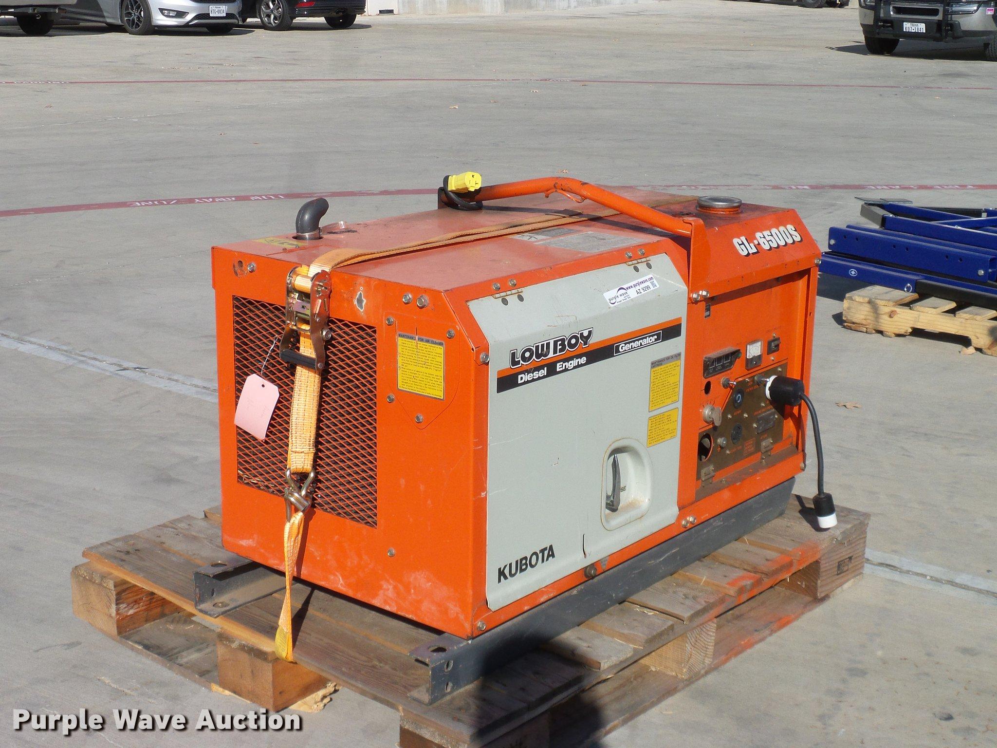 Kubota GL6500S generator Item AZ9299