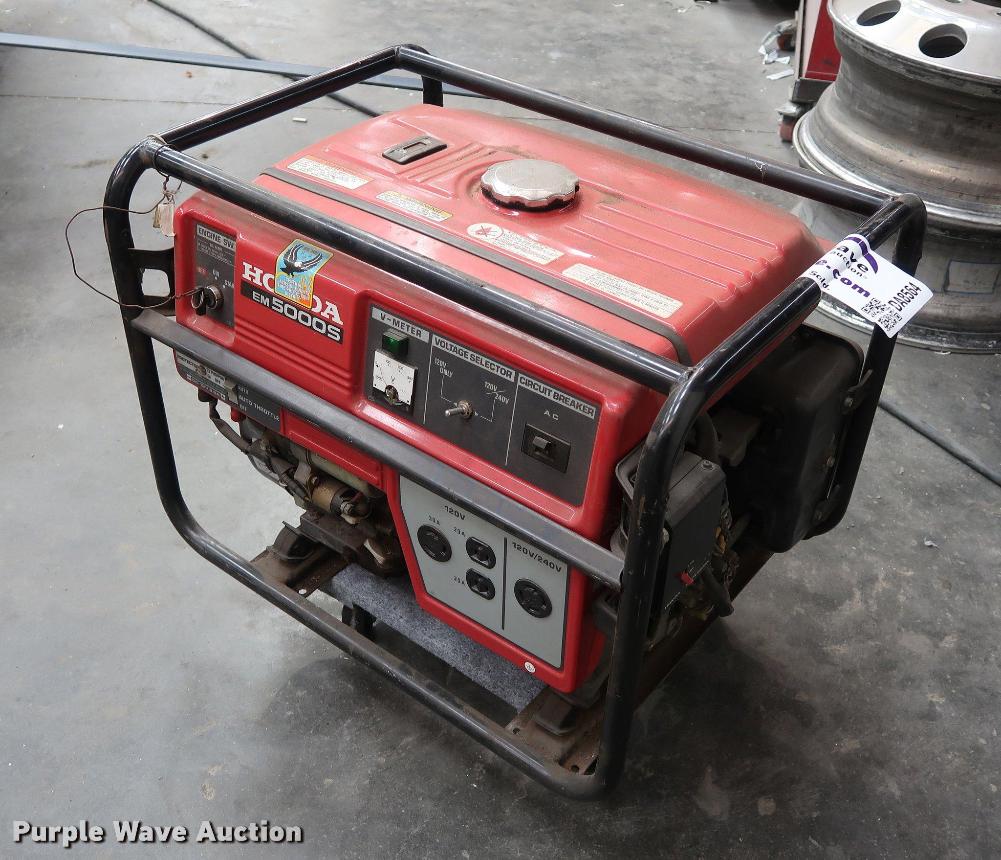 Honda EM5000S generator Item DA8564