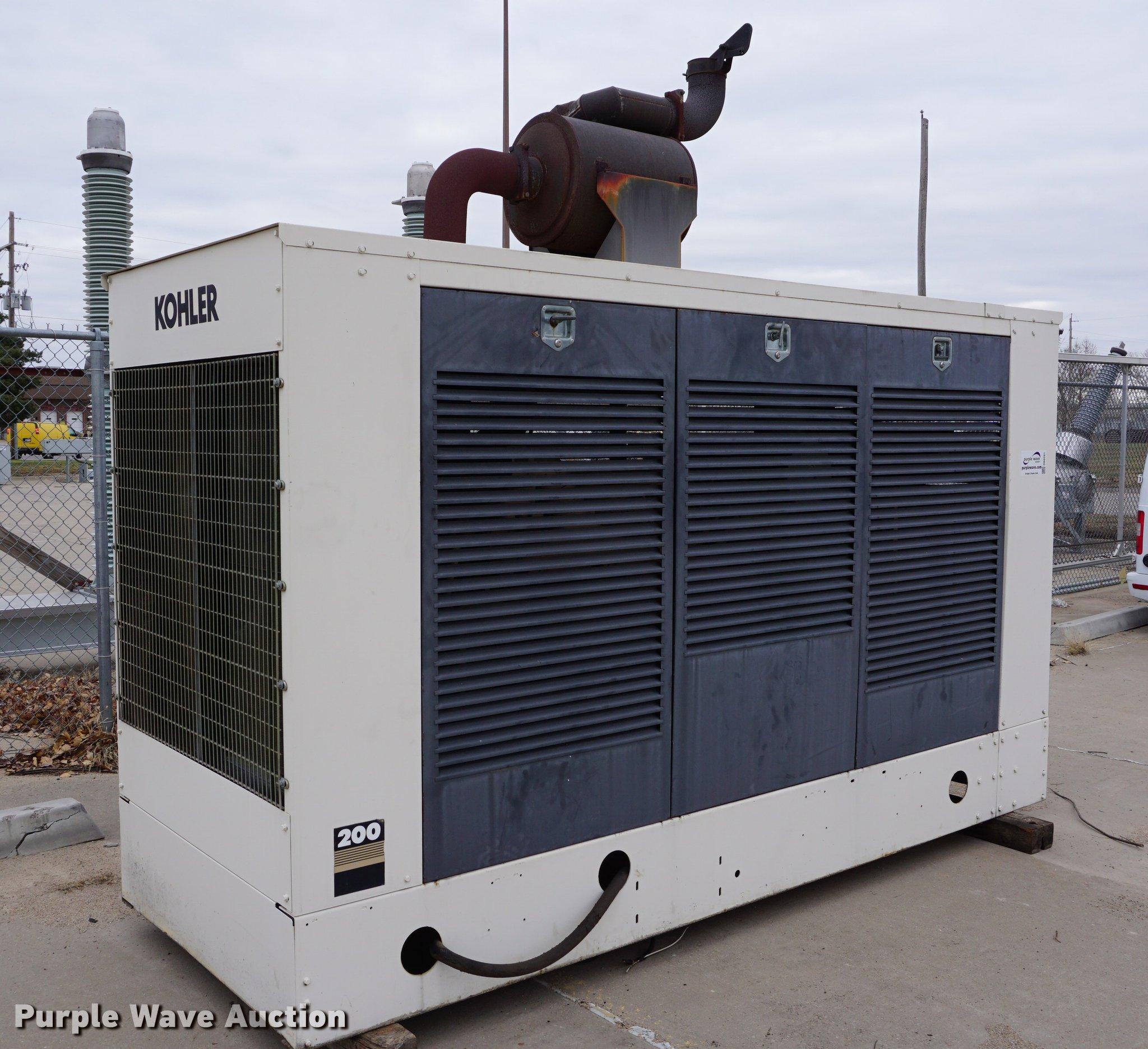 Kohler 200RZD generator Item DB0281
