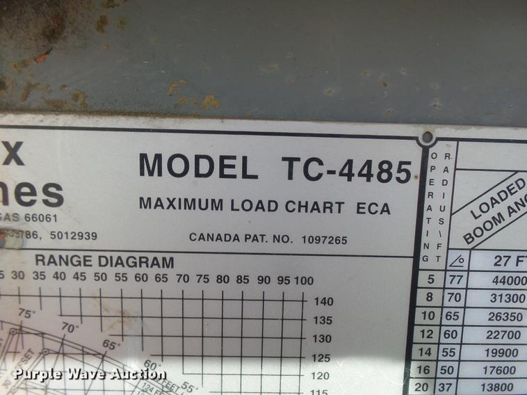 1999 international 2674 flatbed crane truck item dp9596 rh purplewave com