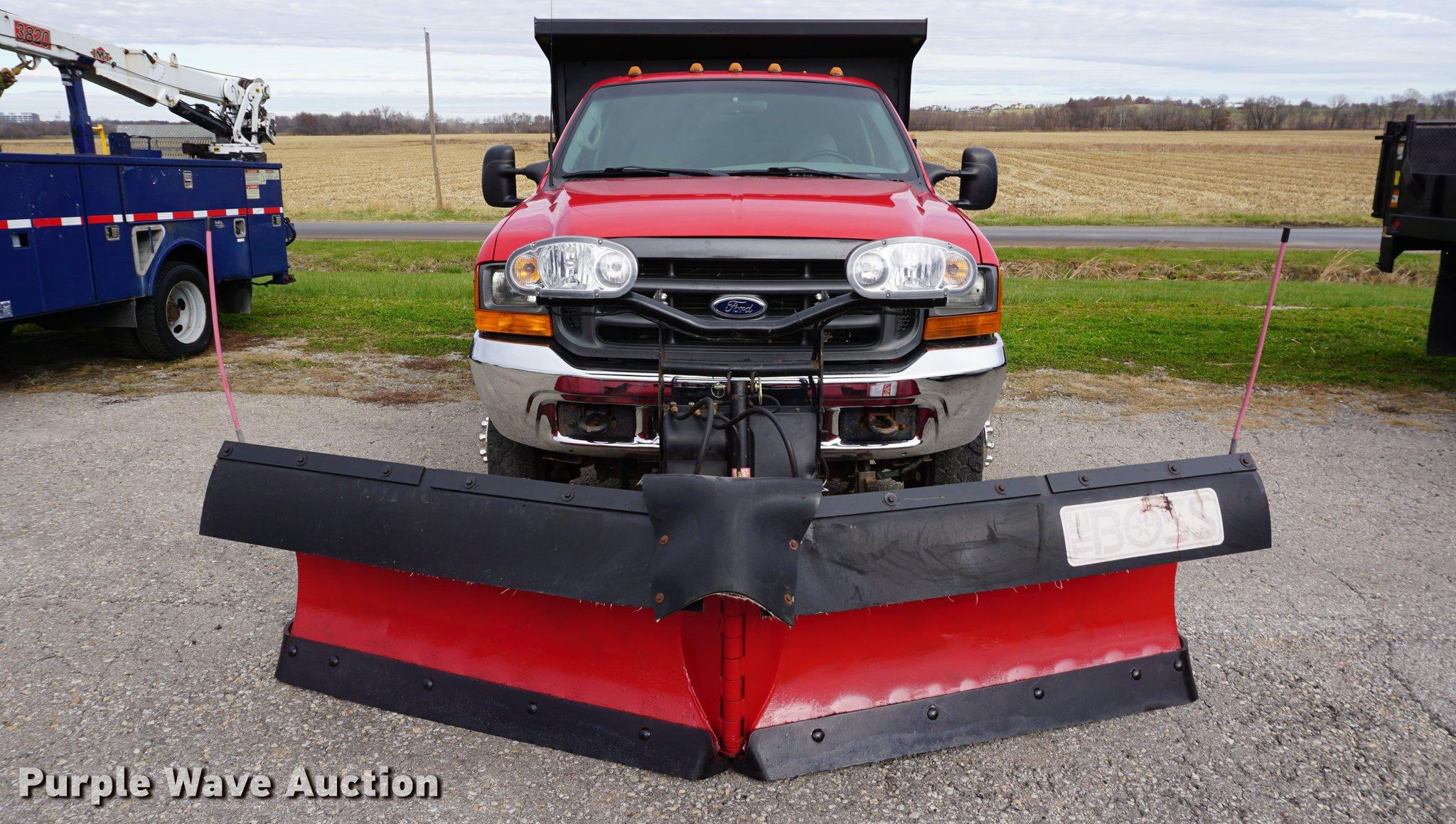2001 Ford F350 Super Duty Dump Bed Pickup Truck Item Da146 01 F250 Boss Plow Wiring Diagram Full Size In New Window