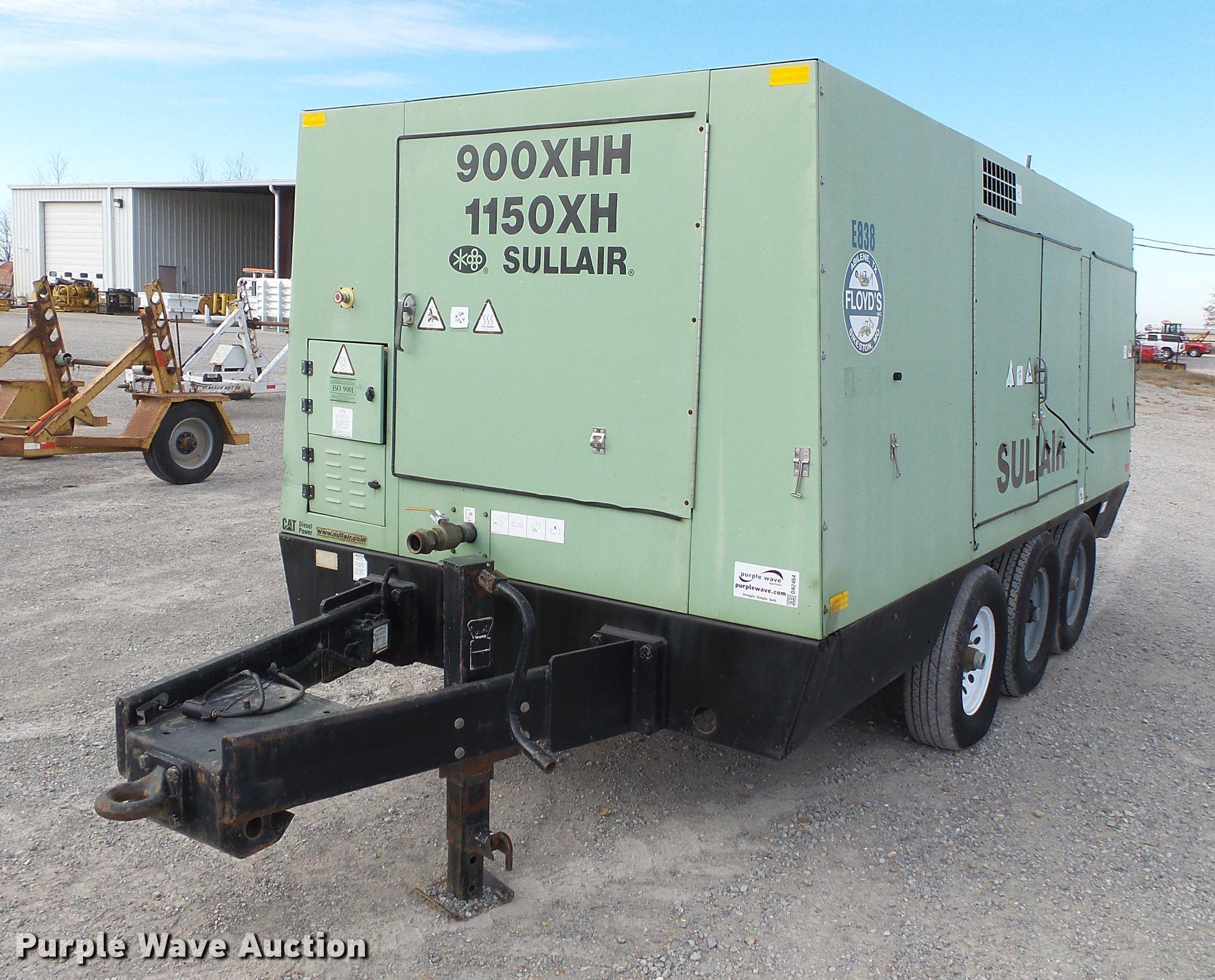 2009 sullair 900 1150xhdtq ca3 air compressor item da2464 rh purplewave com
