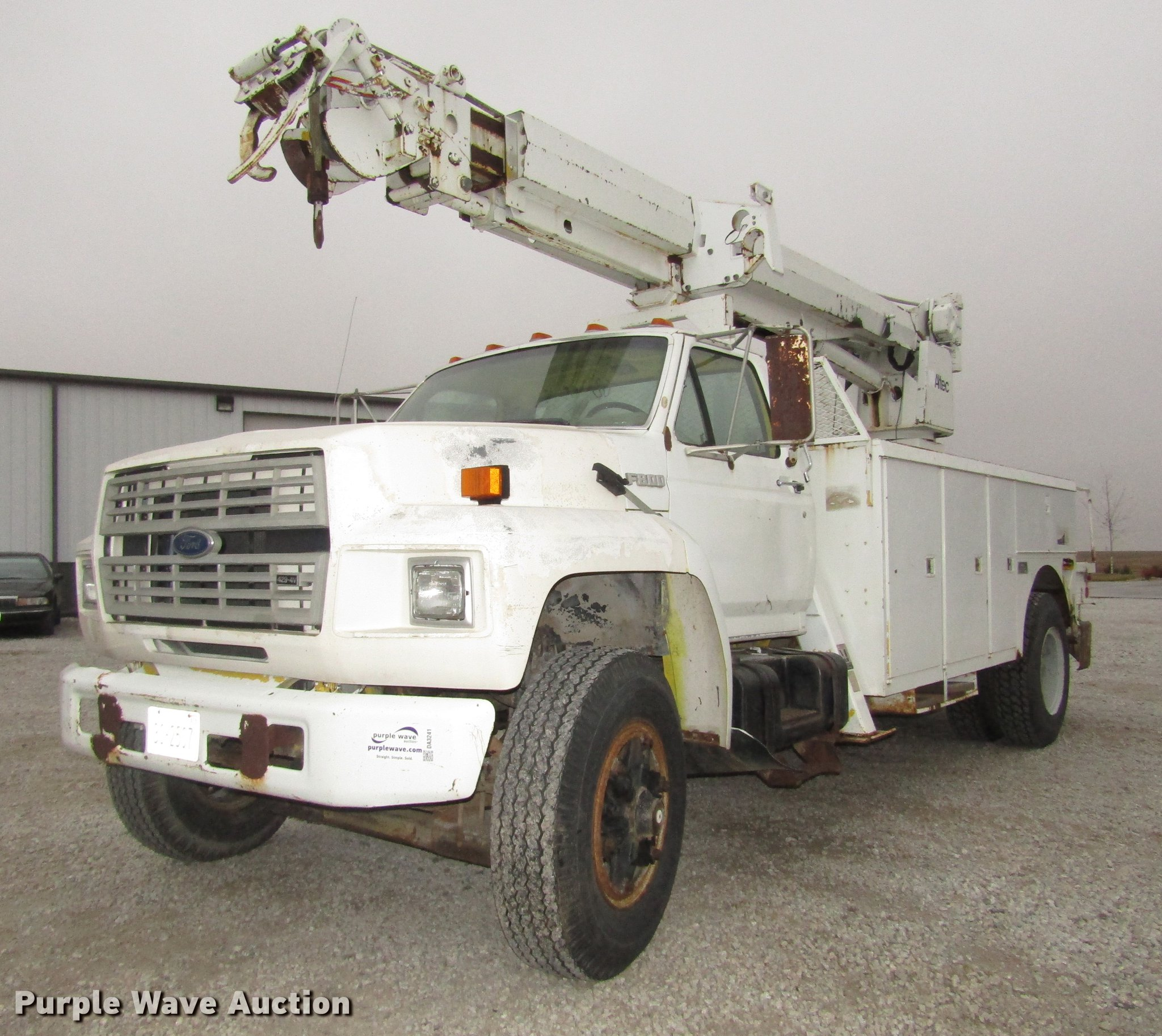 Ford F800 Bucket Truck Wiring Diagram Worksheet And 1989 Item Da3241 Sold December 2 Rh Purplewave Com 1964 Parts