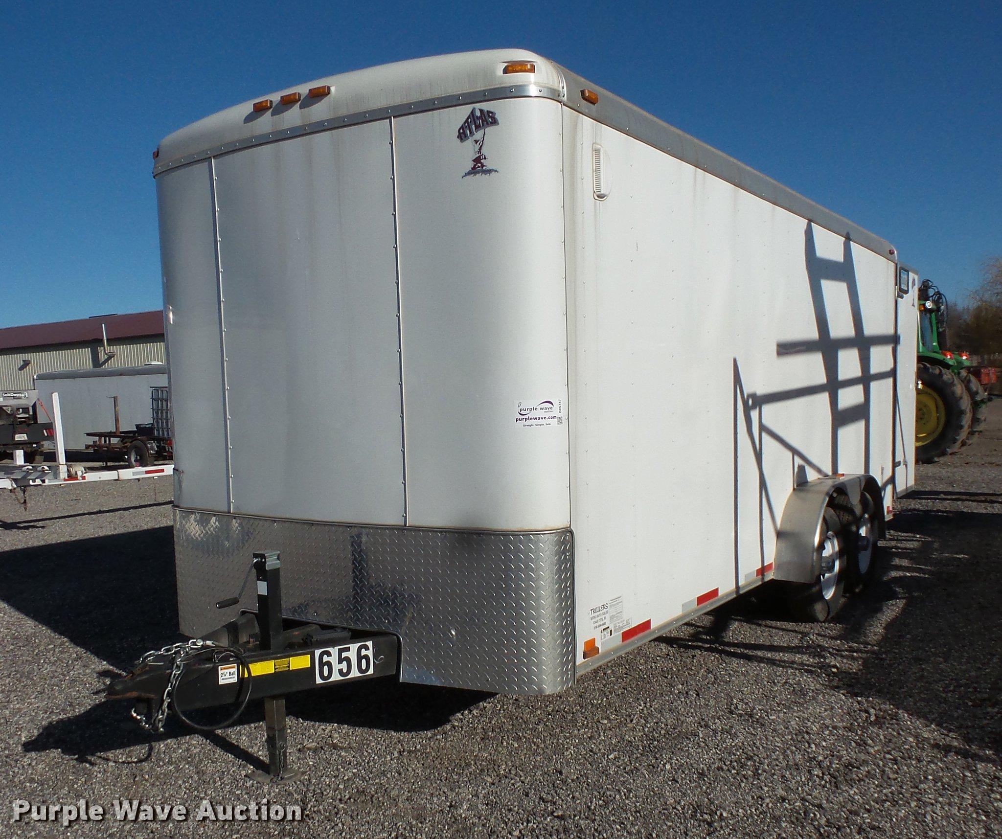2016 Atlas enclosed cargo trailer   Item DC5747   SOLD! Dece