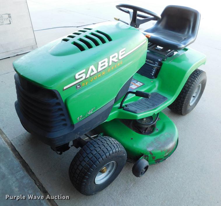 John Deere Sabre >> John Deere Sabre 1742 Lawn Mower Item Bu9606 Sold Janua