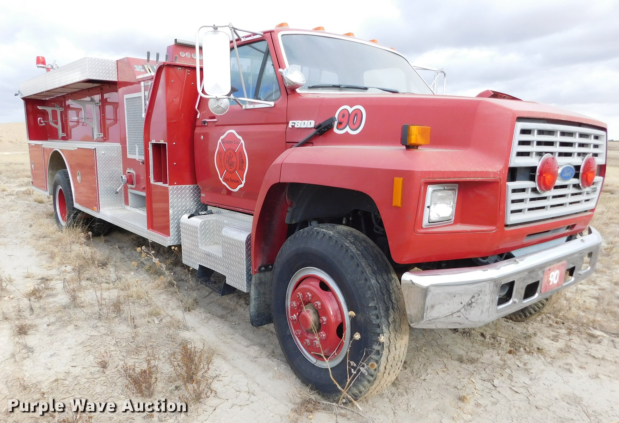 ... 1991 Ford F800 fire truck Full size in new window ...