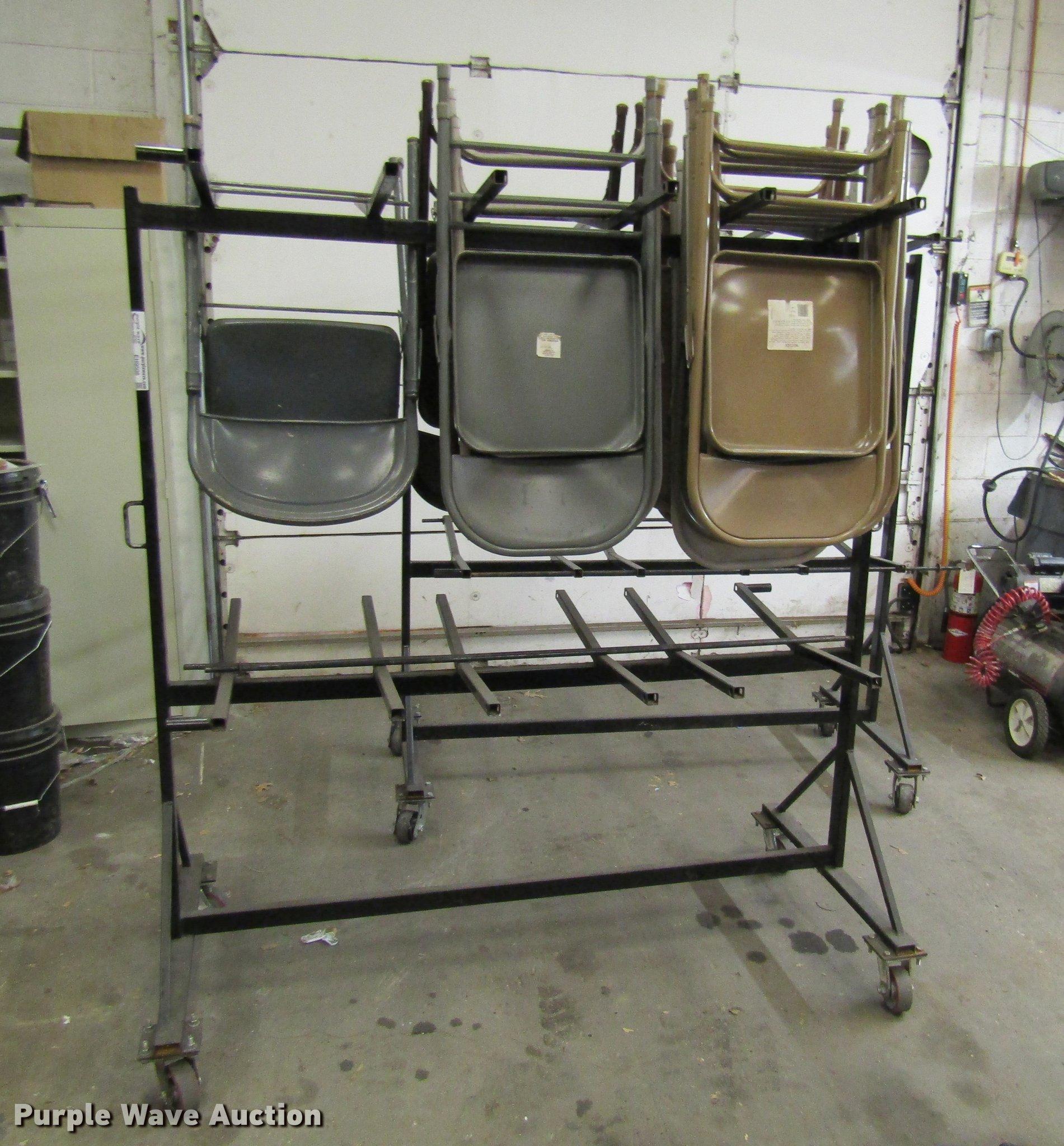2 folding chair racks Item EH9508