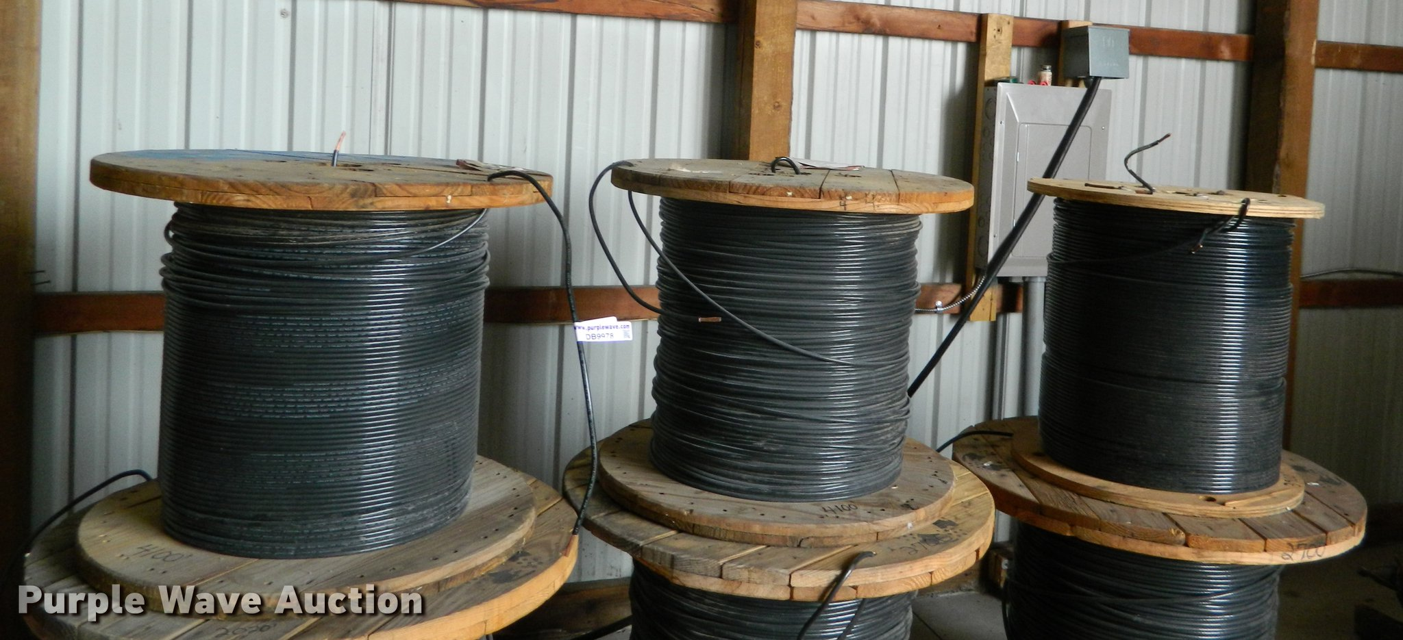 3) rolls of #4 copper wire | Item DB9978 | SOLD! January 24...