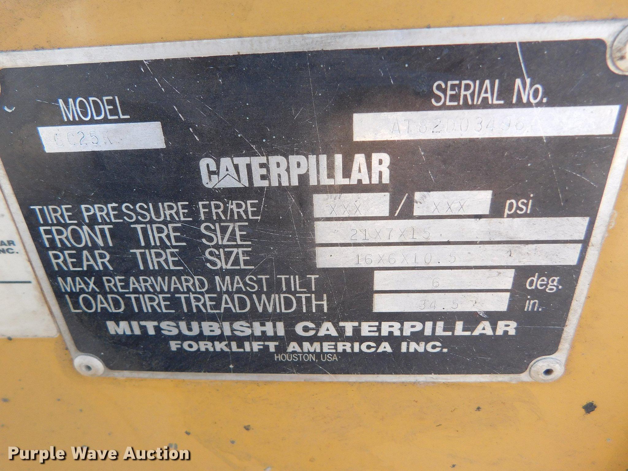 Caterpillar GC25K forklift | Item DC8448 | SOLD! January 24