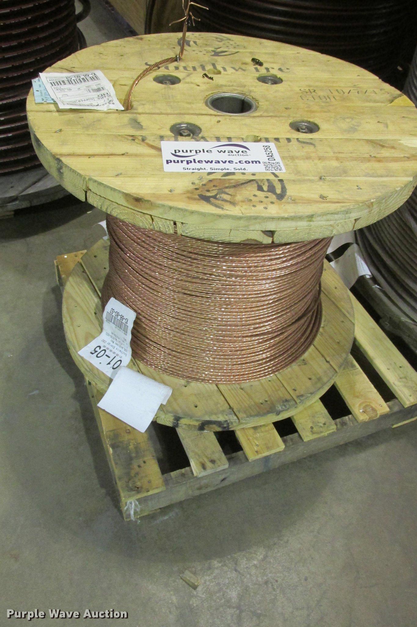 Southwire seven strand copper wire item da5258 sold jan da5258 image for item da5258 southwire seven strand copper wire keyboard keysfo Image collections