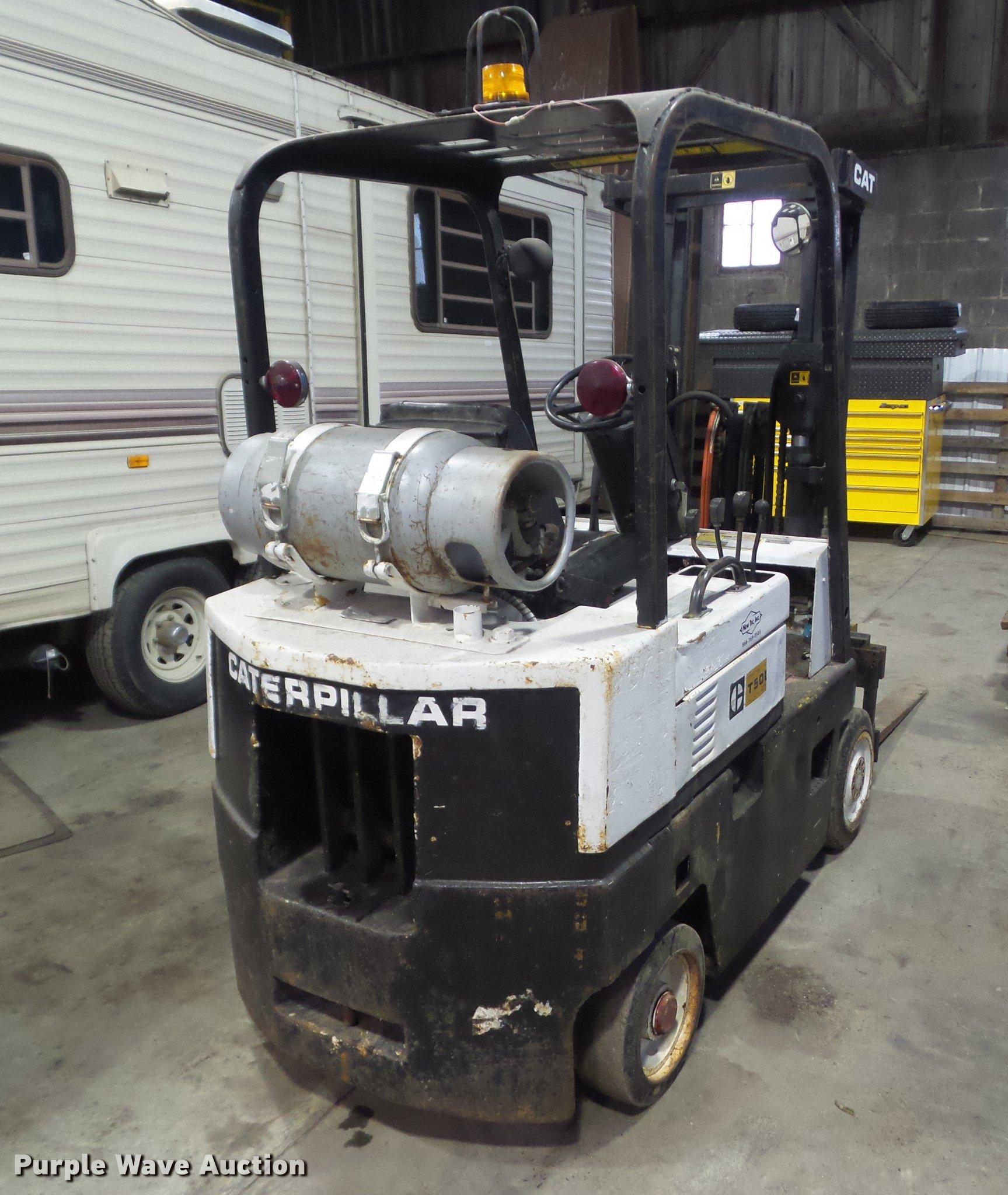 Caterpillar T50D forklift   Item DZ9171   SOLD! February 7 V