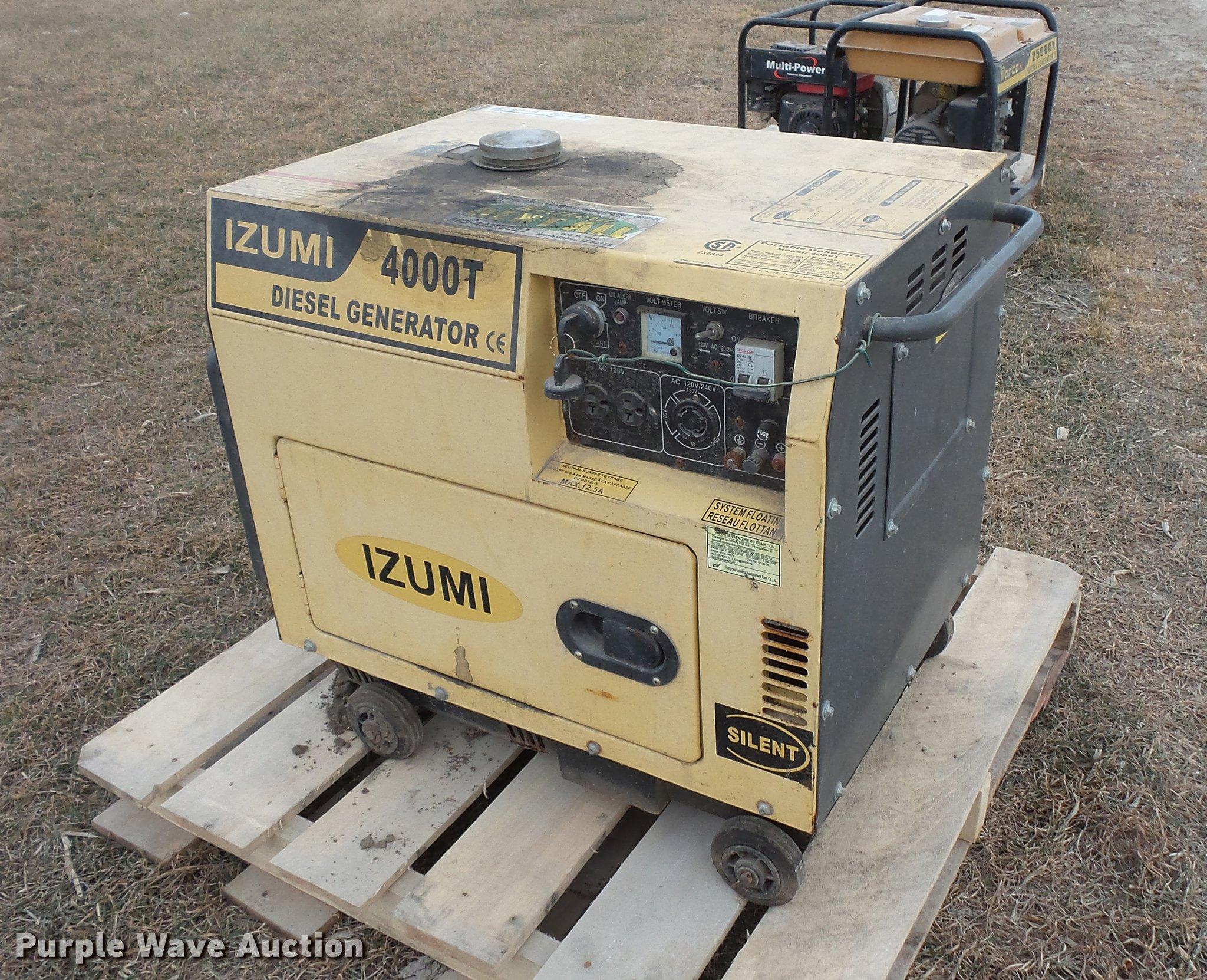 Izumi 4000T generator Item EA9658