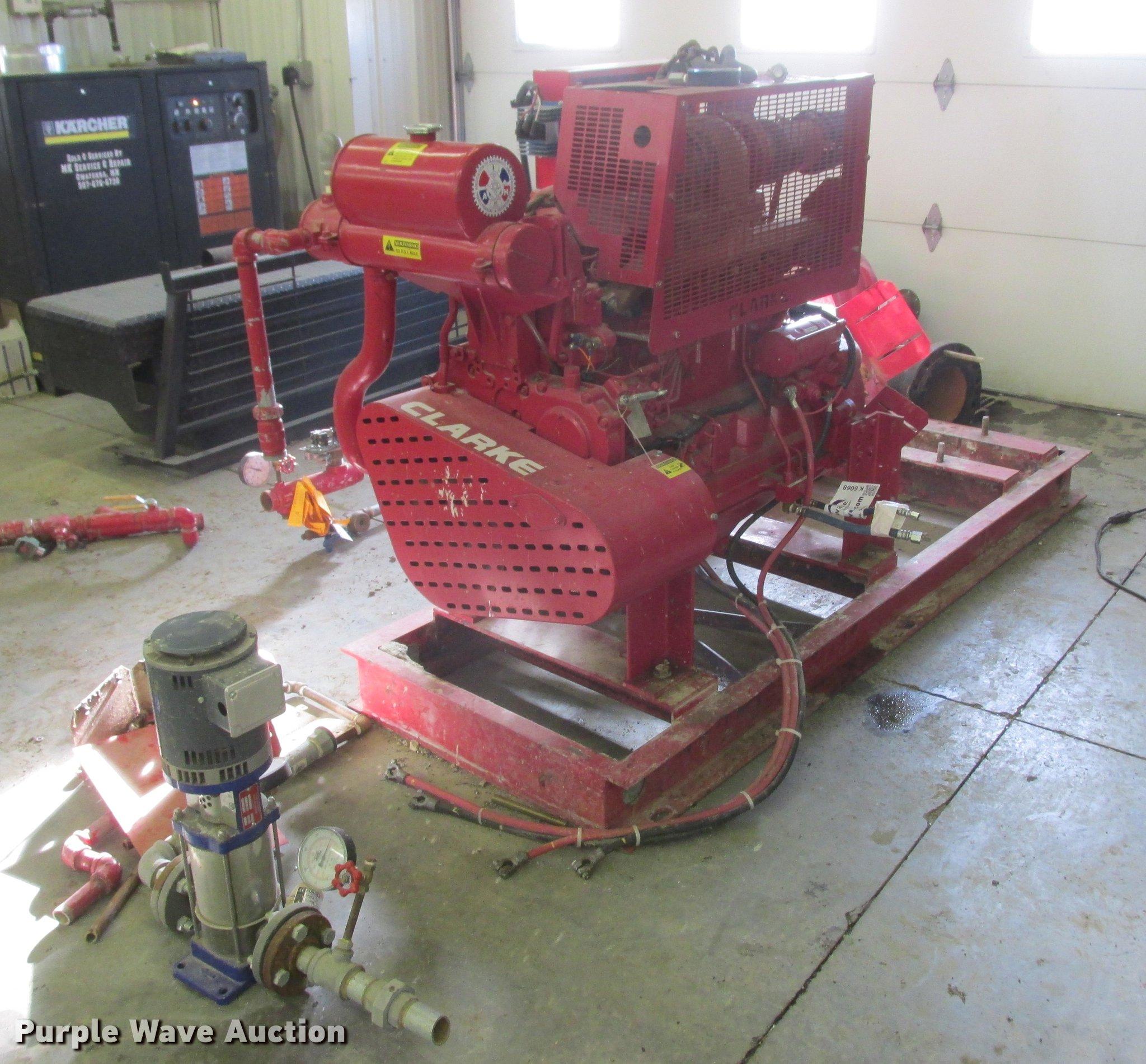 Clarke fire water pump system | Item K6068 | SOLD! February