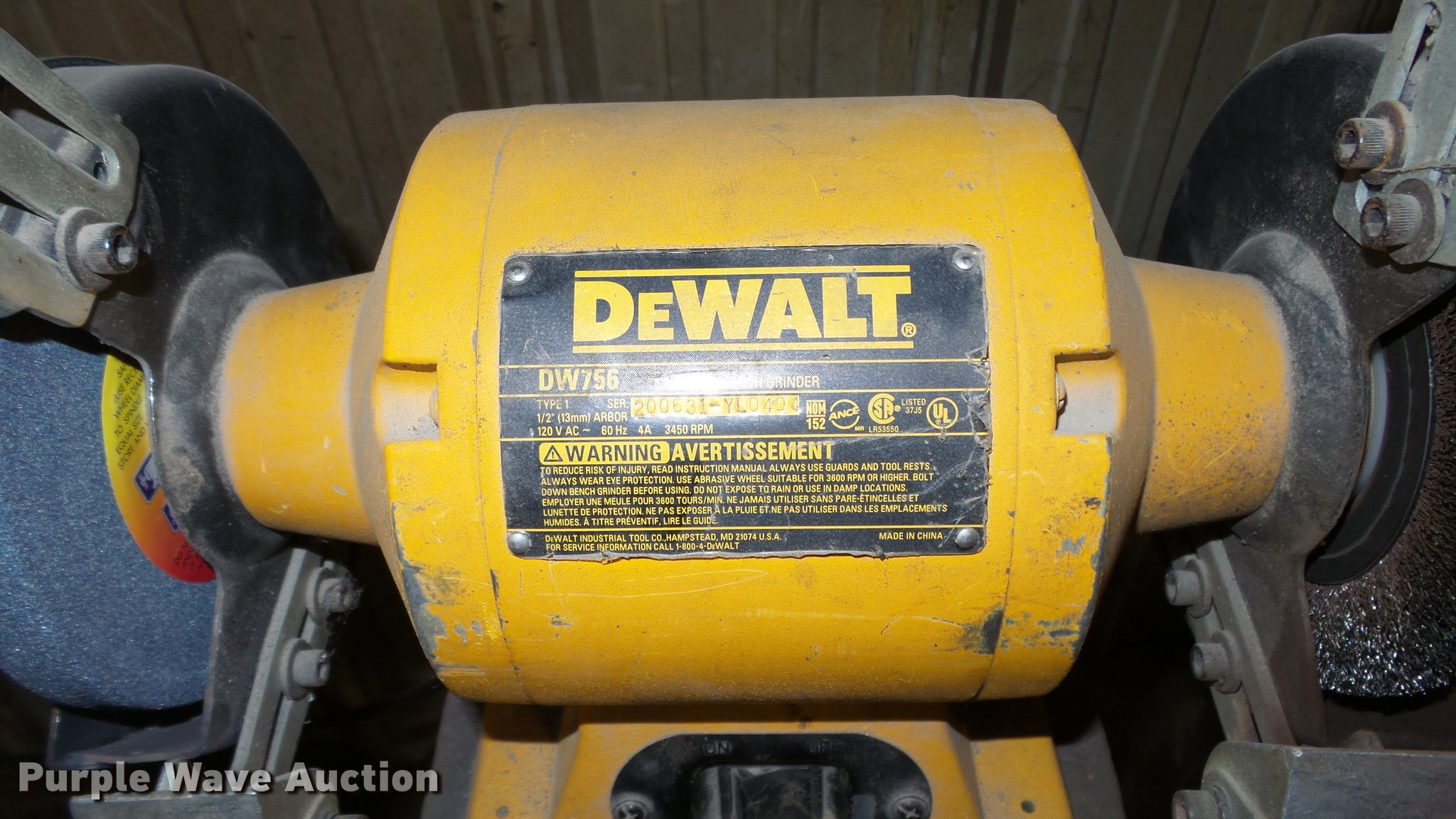 Astonishing Dewalt Dw756 Bench Grinder Item Dk9020 Sold February 13 Ibusinesslaw Wood Chair Design Ideas Ibusinesslaworg