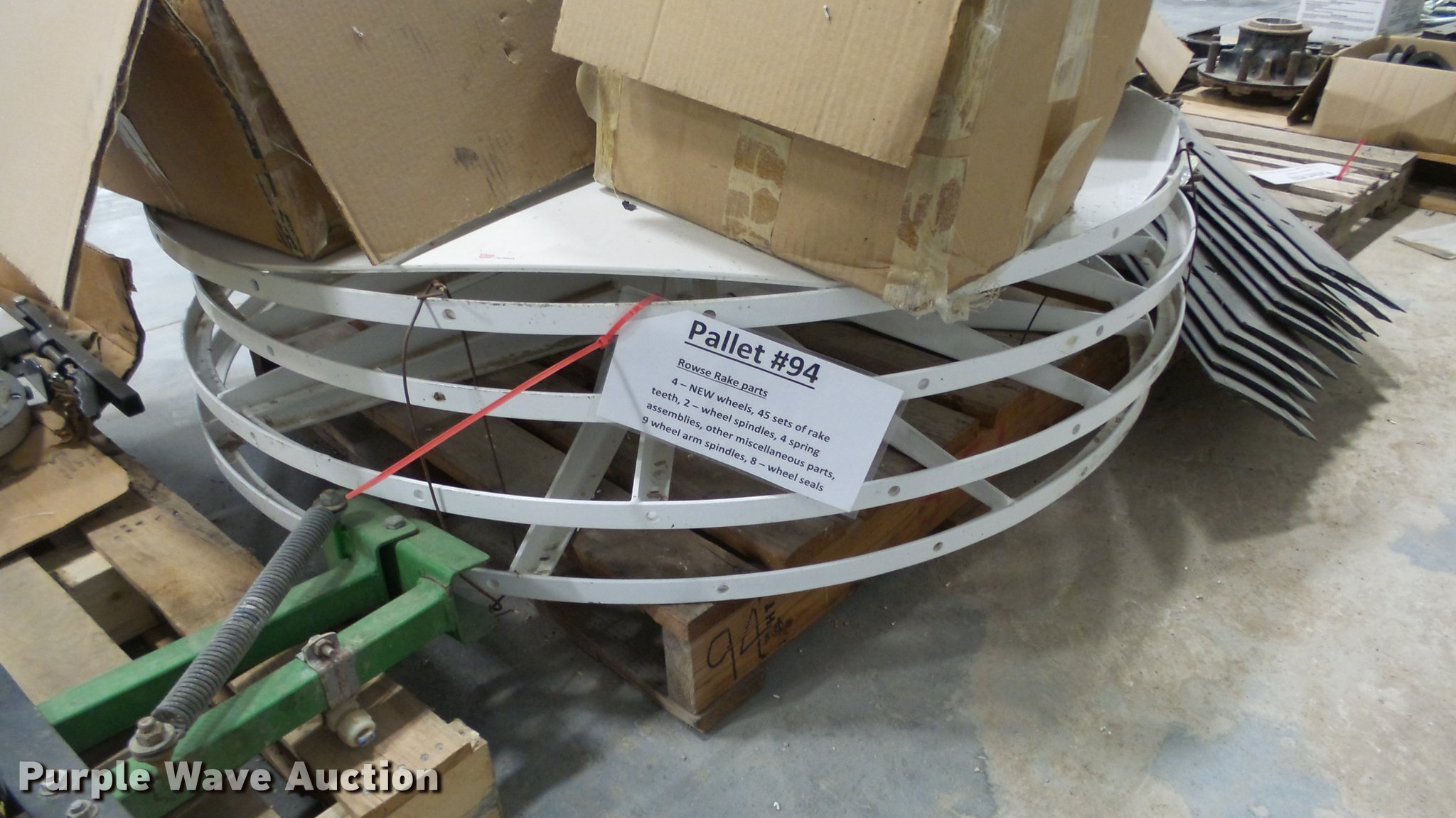 Rowse hay rake parts | Item DR9954 | SOLD! February 13 Knigh
