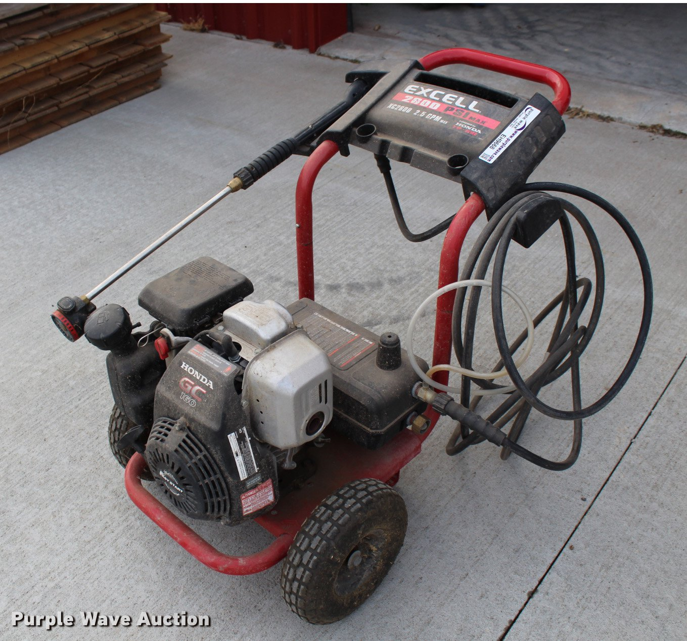 excell xc2600 pressure washer item eh9668 sold february