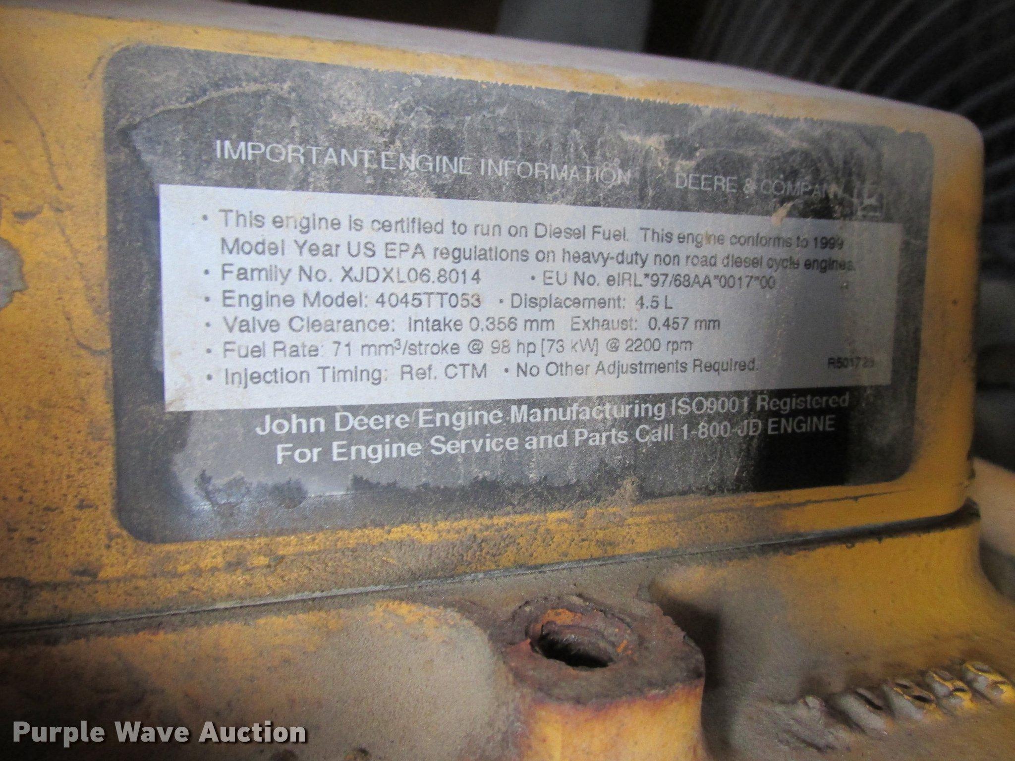1999 John Deere 410E backhoe | Item K6062 | SOLD! February 2