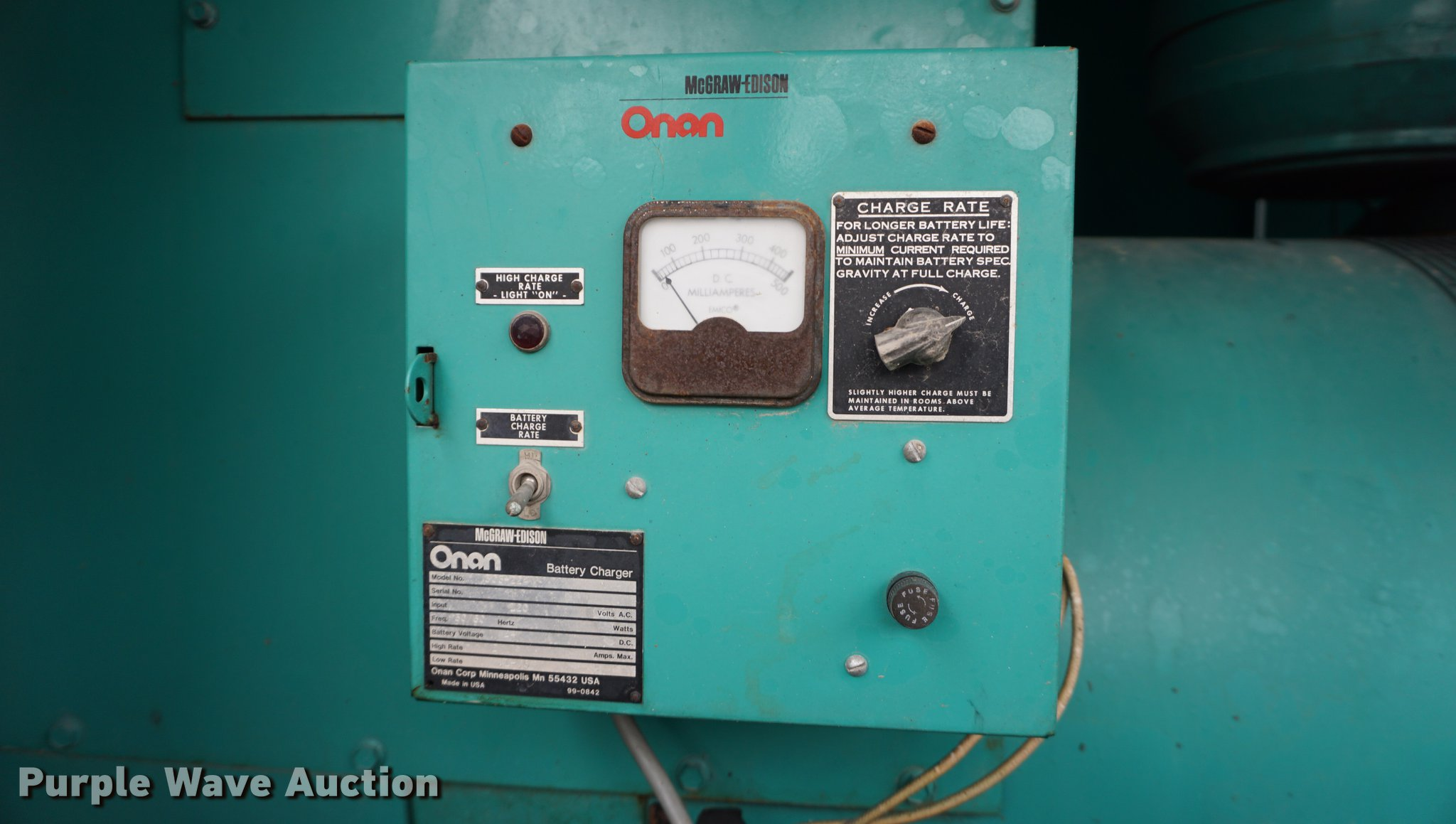 Onan 300 generator | Item DB0433 | SOLD! March 8 Constructio