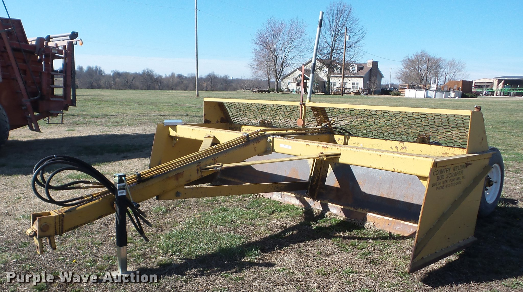 Country Welding box blade | Item AY9582 | SOLD! March 28 Ag