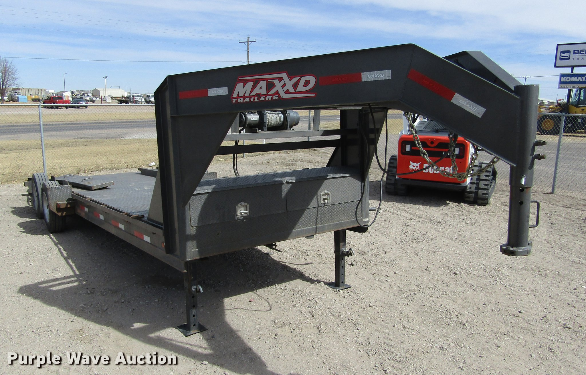 2016 Maxey A826 Drop-N-Load car trailer | Item DE6655 | SOLD...