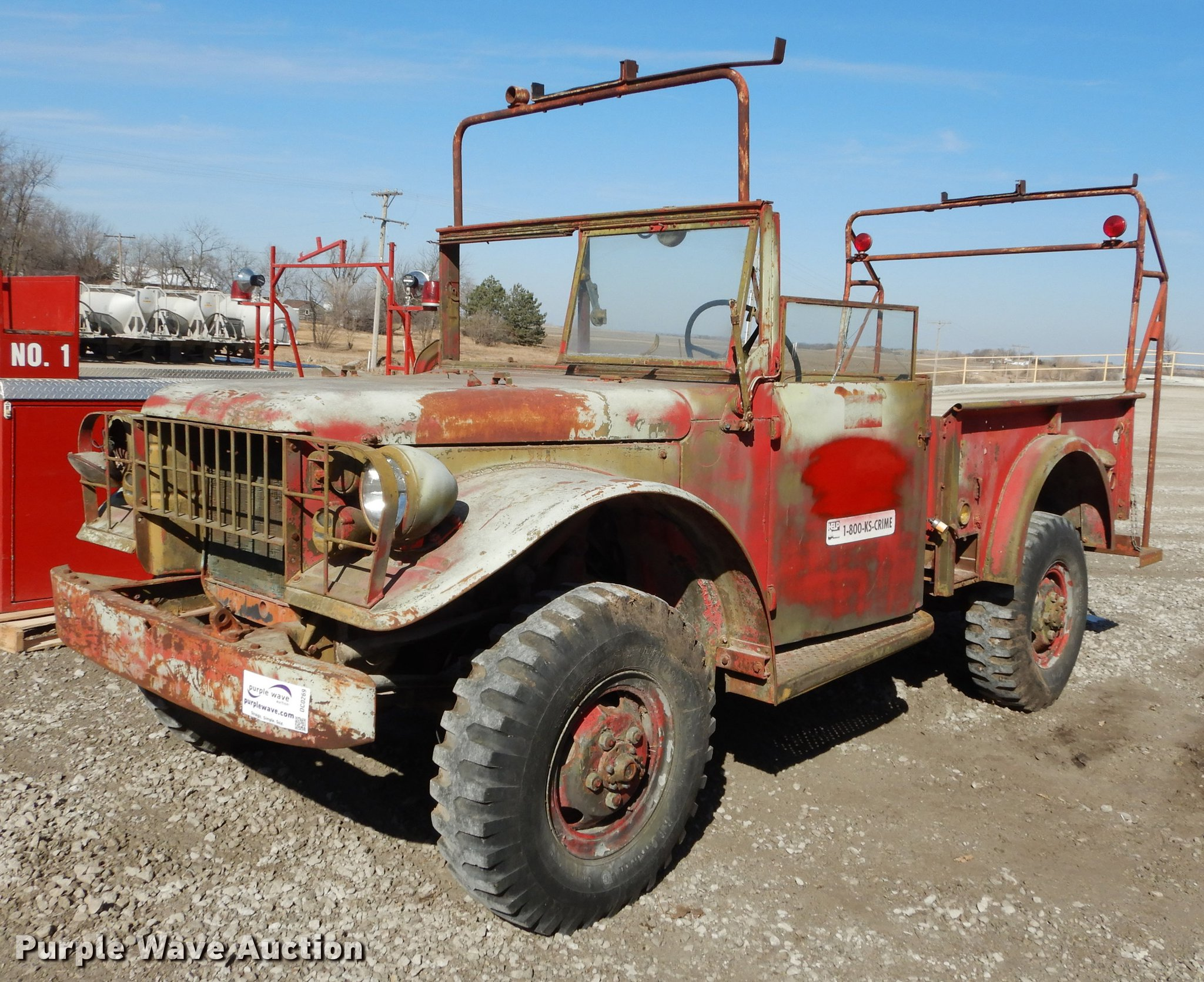 1964 Dodge M37 pickup truck | Item DC0269 | SOLD! April 3 Go