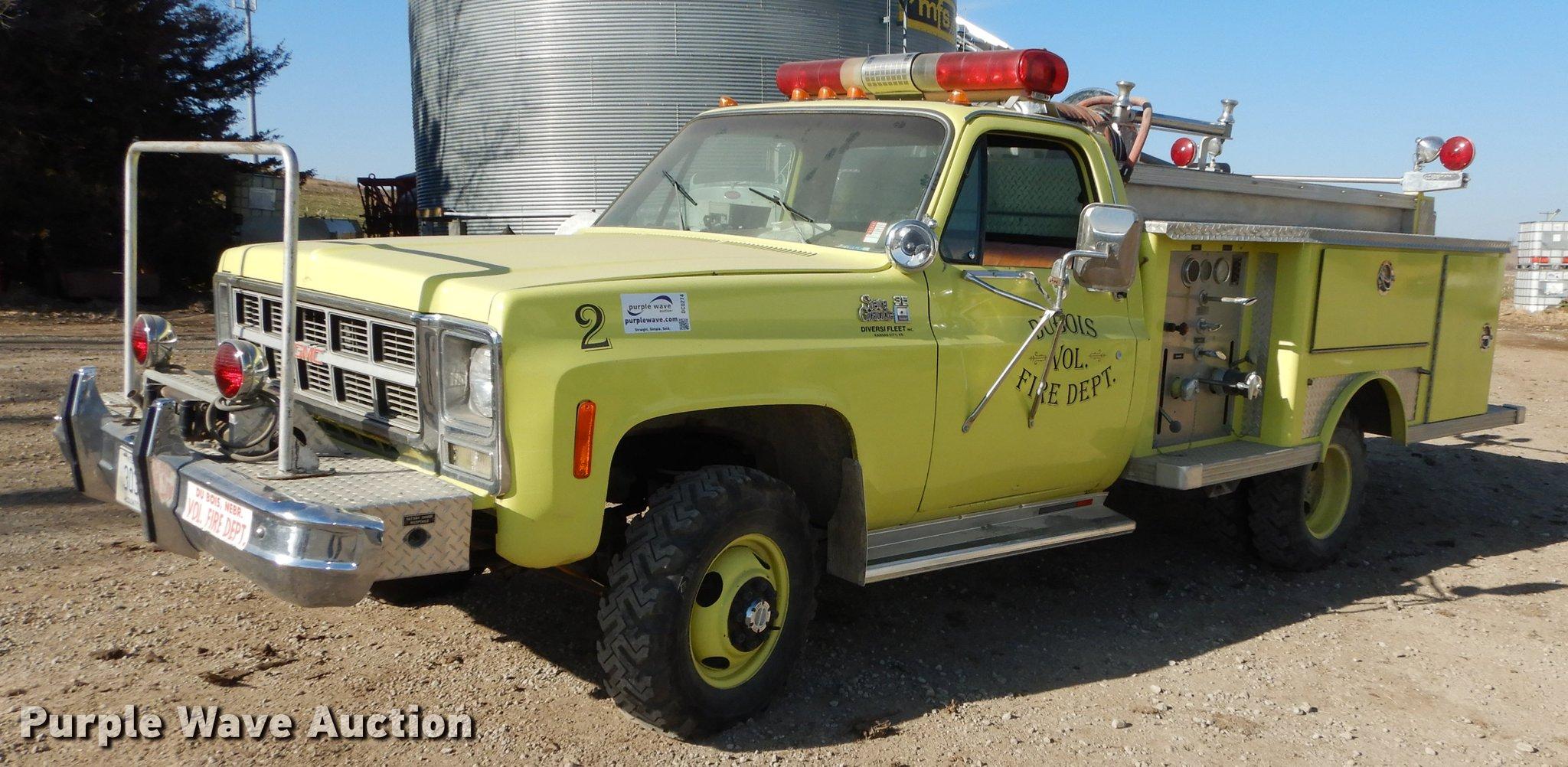 1980 gmc sierra grande 35 fire truck item dc0274 sold a rh purplewave com 1950 gmc pickup truck parts 1950 gmc pickup truck front suspension