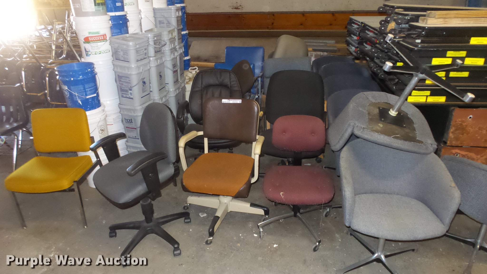 20 chairs item ec9703 sold april 3 government auction