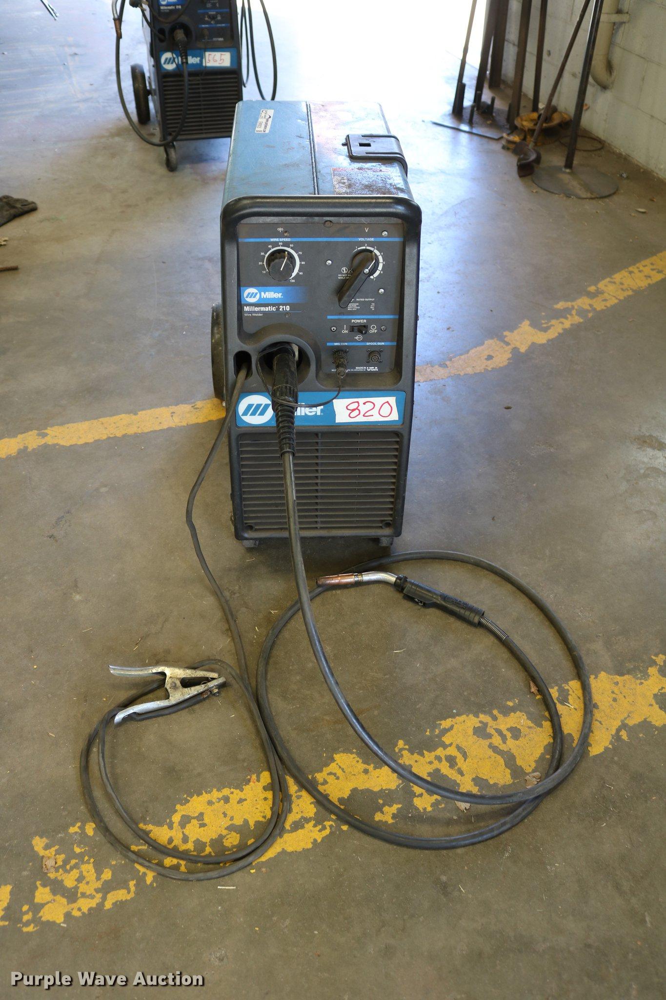 Miller Millermatic 210 Mig Wire Welder Item Ew9035 Sold Tig Plasma Machine Replacement Parts Image For