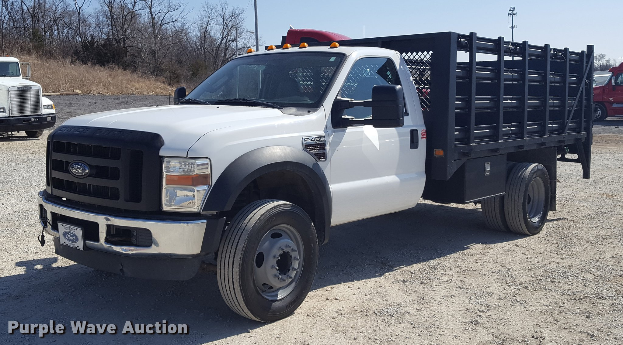 2009 Ford F450 Super Duty flatbed truck Item DF3580